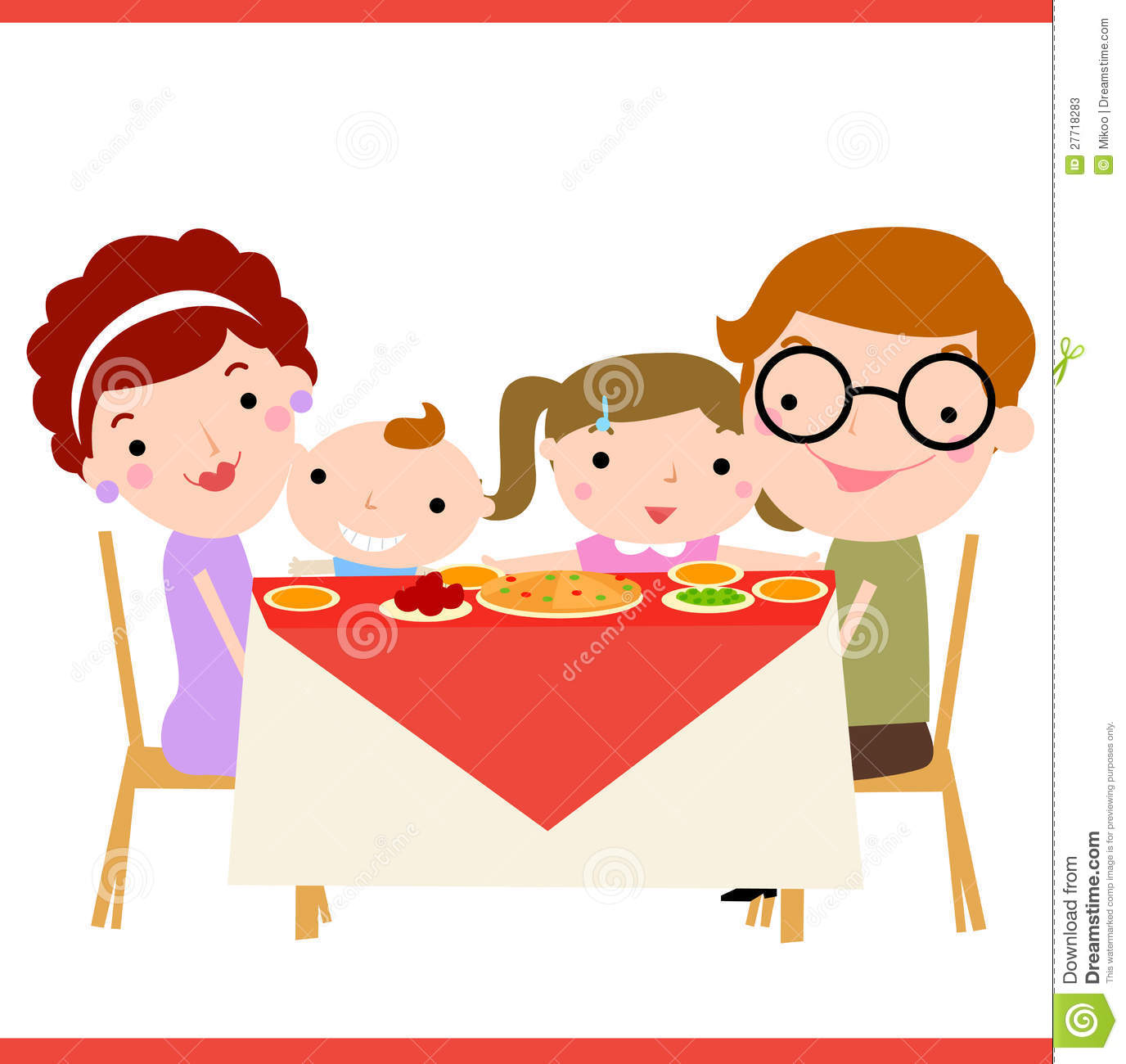 clipart christmas dinner pictures - photo #23