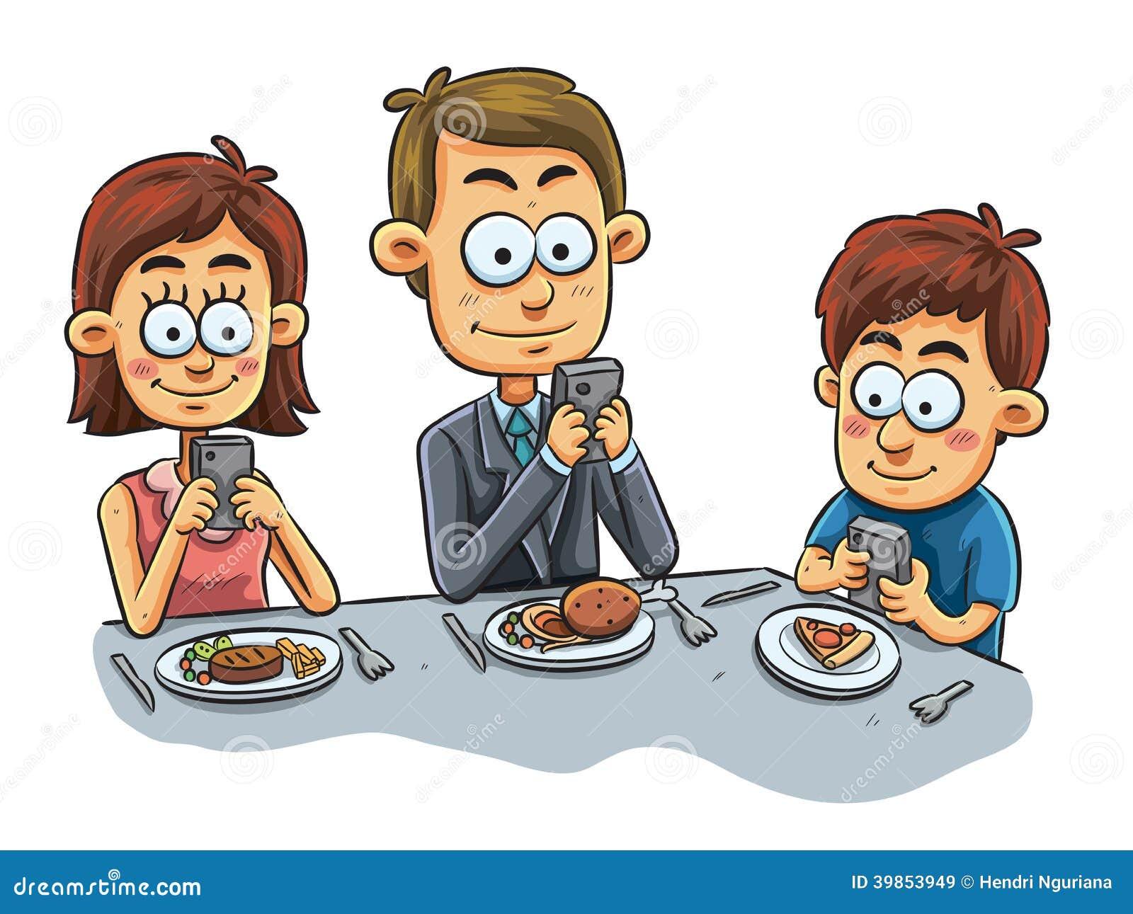 clipart family dinner table - photo #21