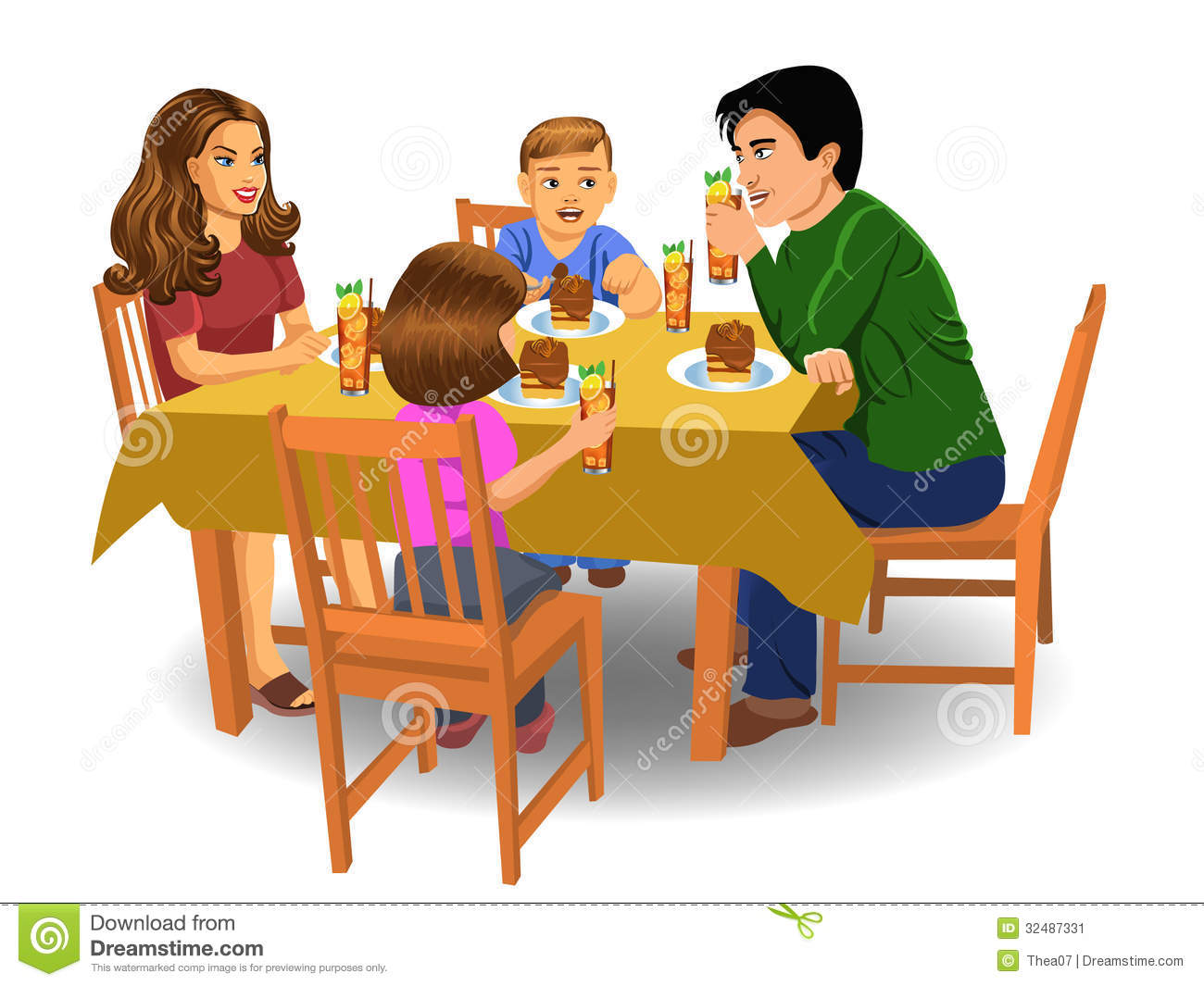 Family Dinner Stock Image Image Of Eating Girl Mother