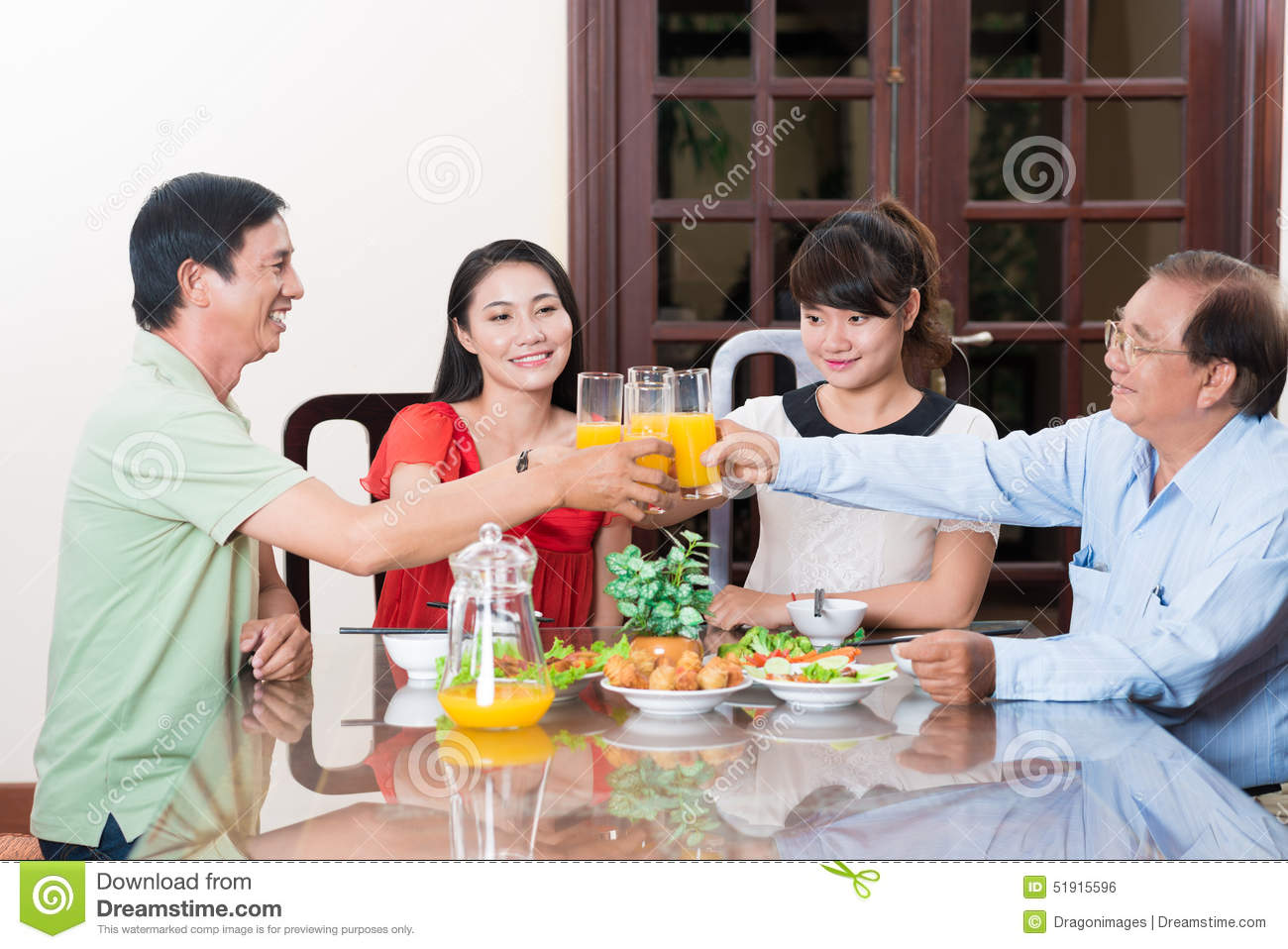 Family Dinner Stock Photo - Image: 51915596