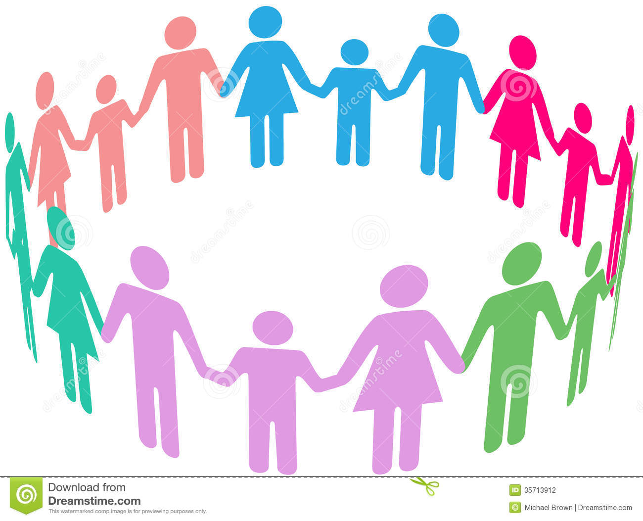 Family Diversity Social Community People Stock Photography - Image ...