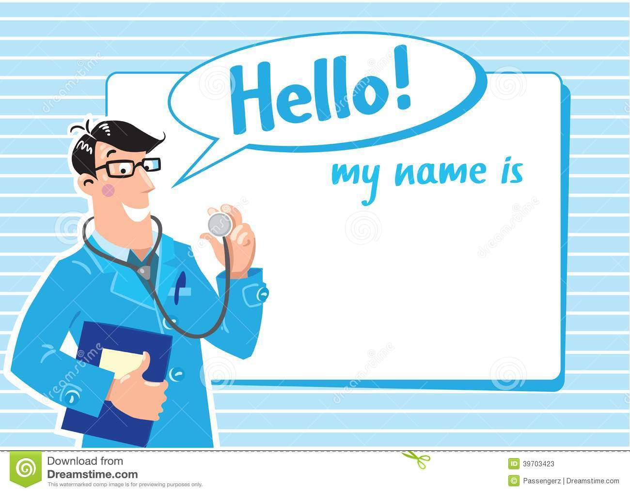 dr name tag template - family doctor badge stock vector image 39703423