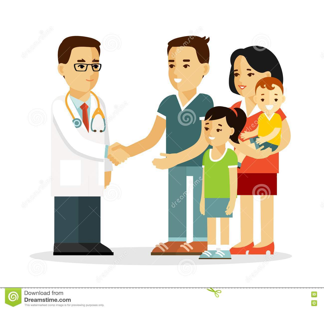 Family Doctor Concept With Young Practitioner And Happy ...