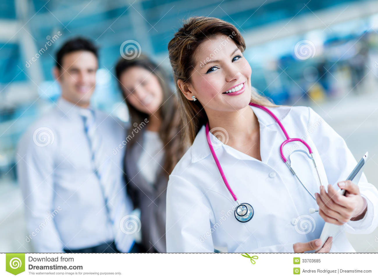 Family doctor stock image. Image of happy, coat, people ...