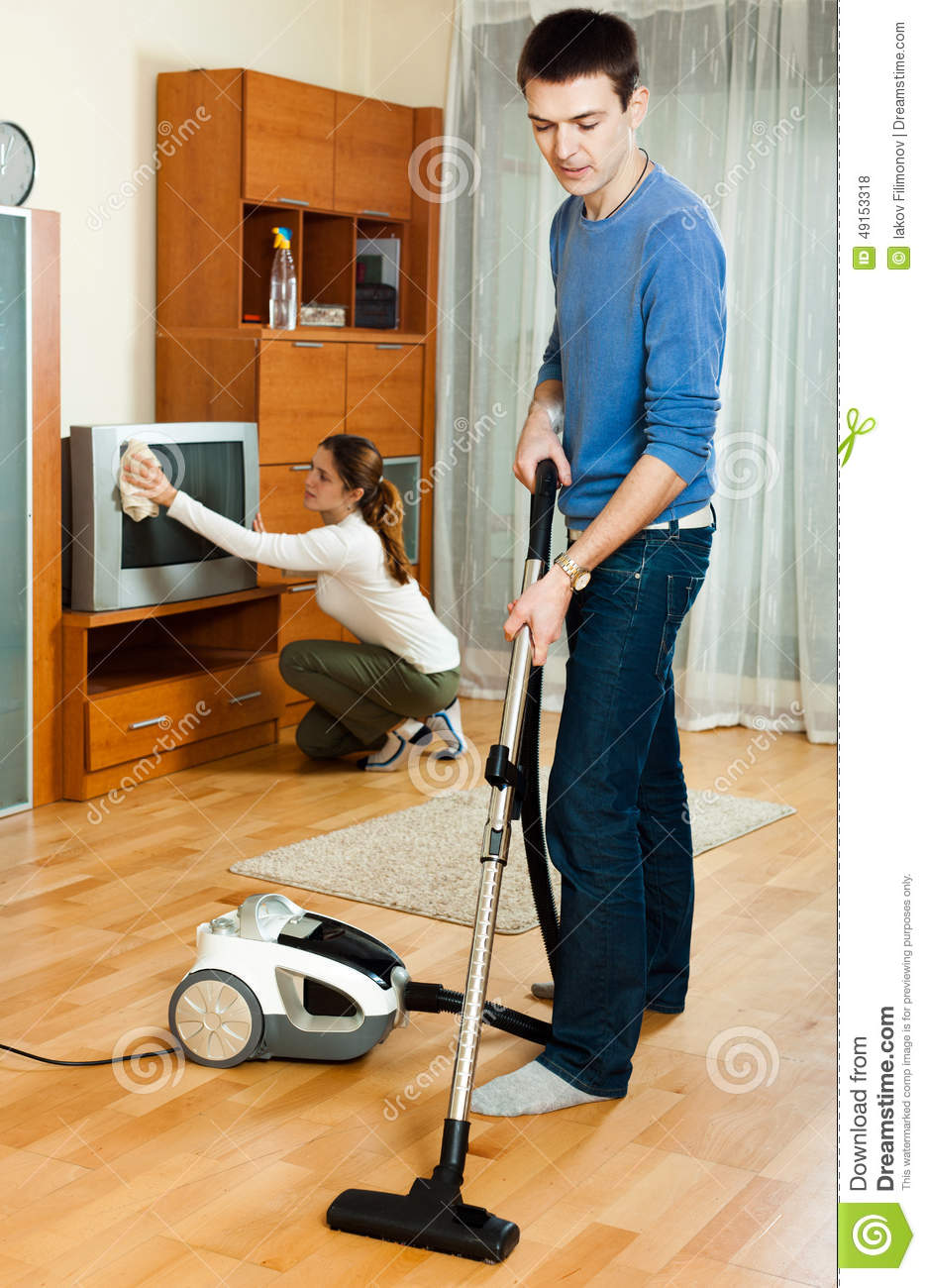 Family are doing house cleaning stock photo image 49153318 for House cleaning stock photos