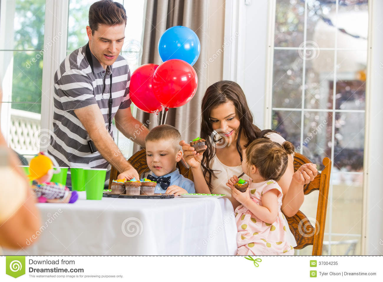 People Eating Cake Together Birthday