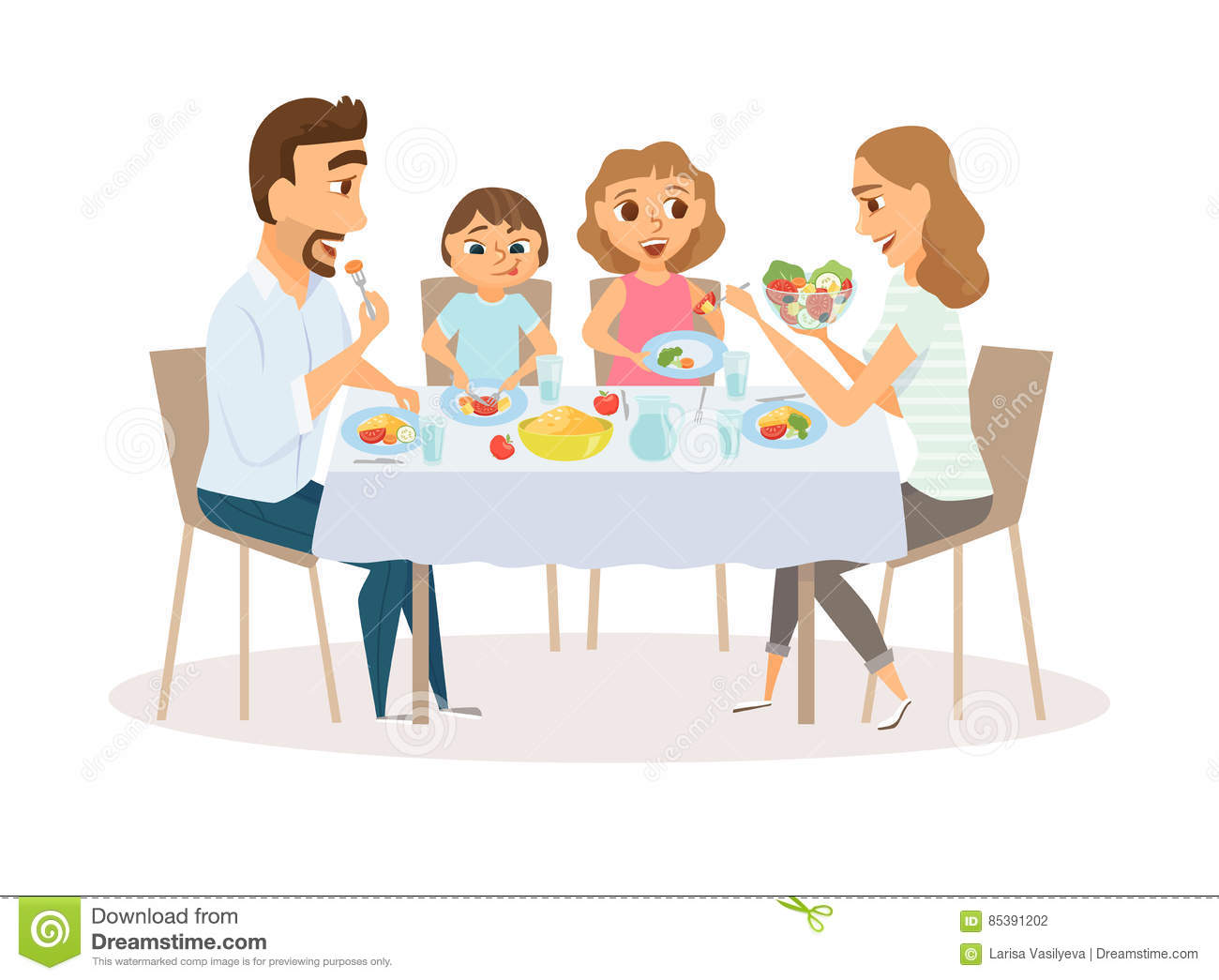Kids Laughing Kitchen Table