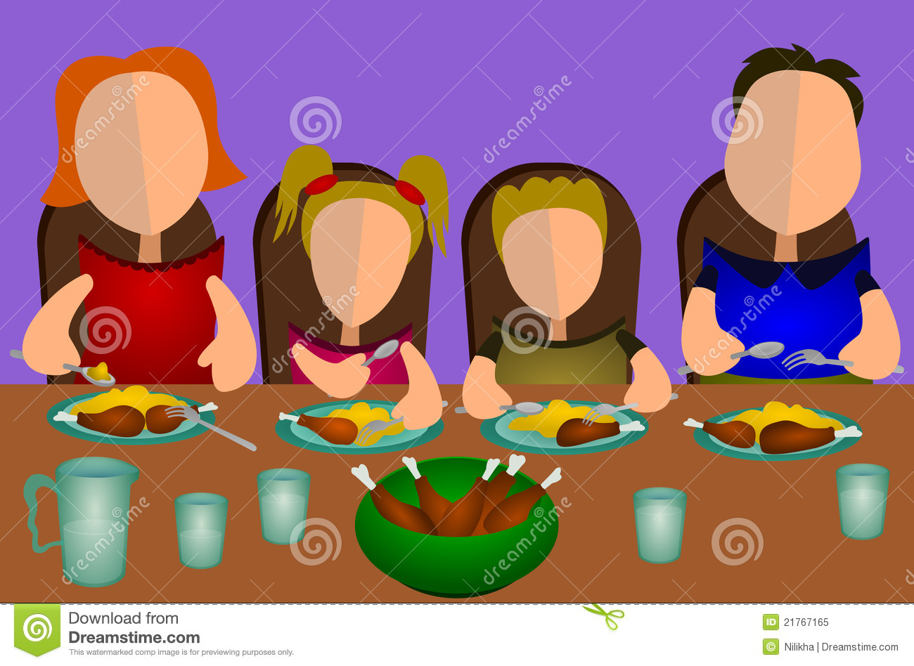 Family Eating Together Royalty Free Stock Photo - Image ...