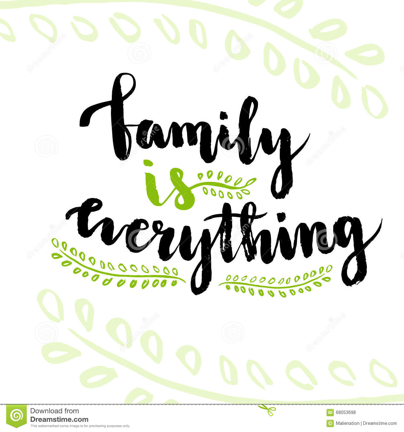 family is everything cute inspirational and motivational handwritten quote creative lettering. Black Bedroom Furniture Sets. Home Design Ideas