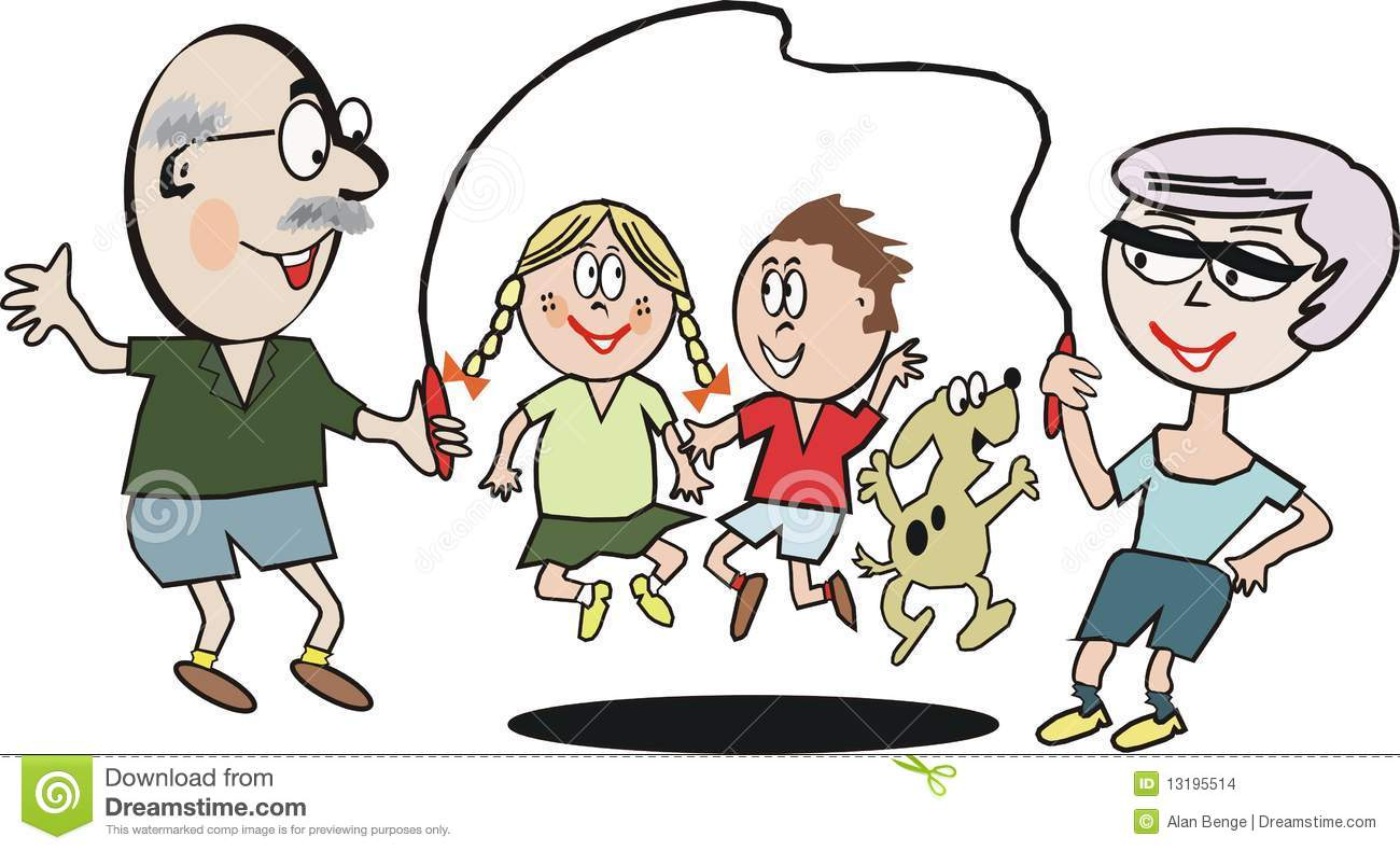 Family Exercise Cartoon Stock Images - Image: 13195514