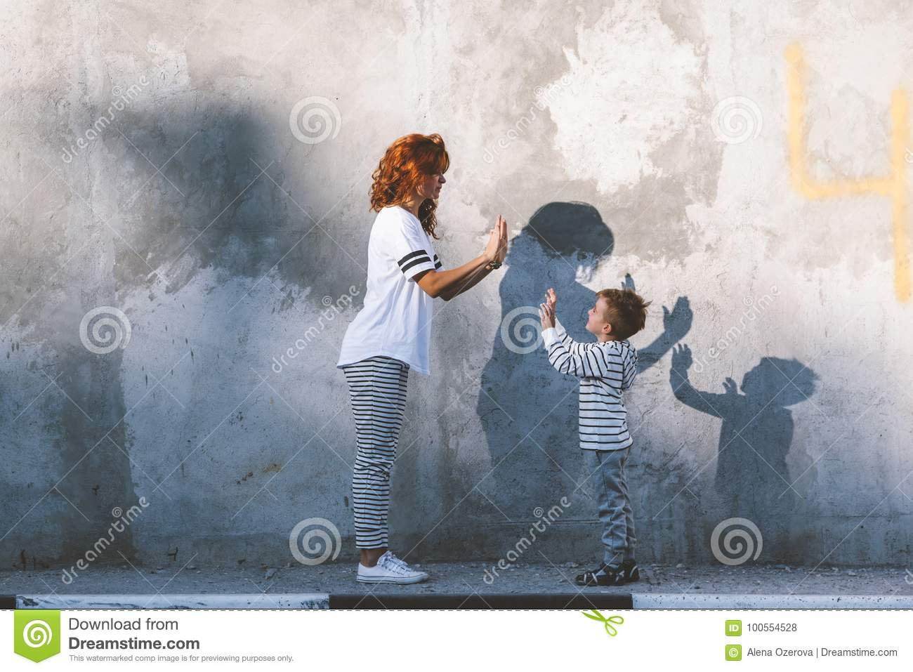 Family Fashion Casual Outfit For Mom And Kid Stock Photo Image Of Family Minimalist 100554528