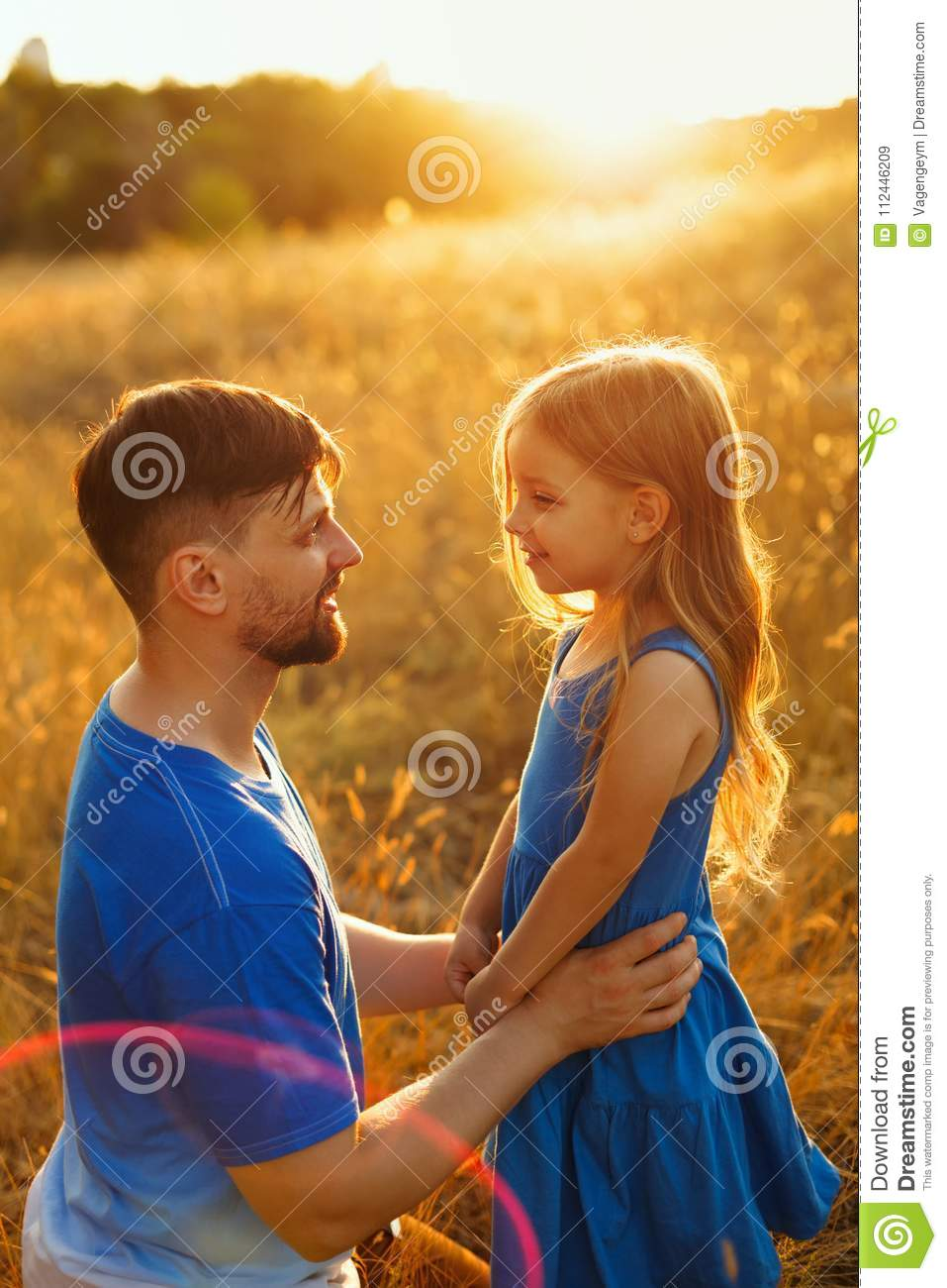 Family. Father and daughter. Leisure