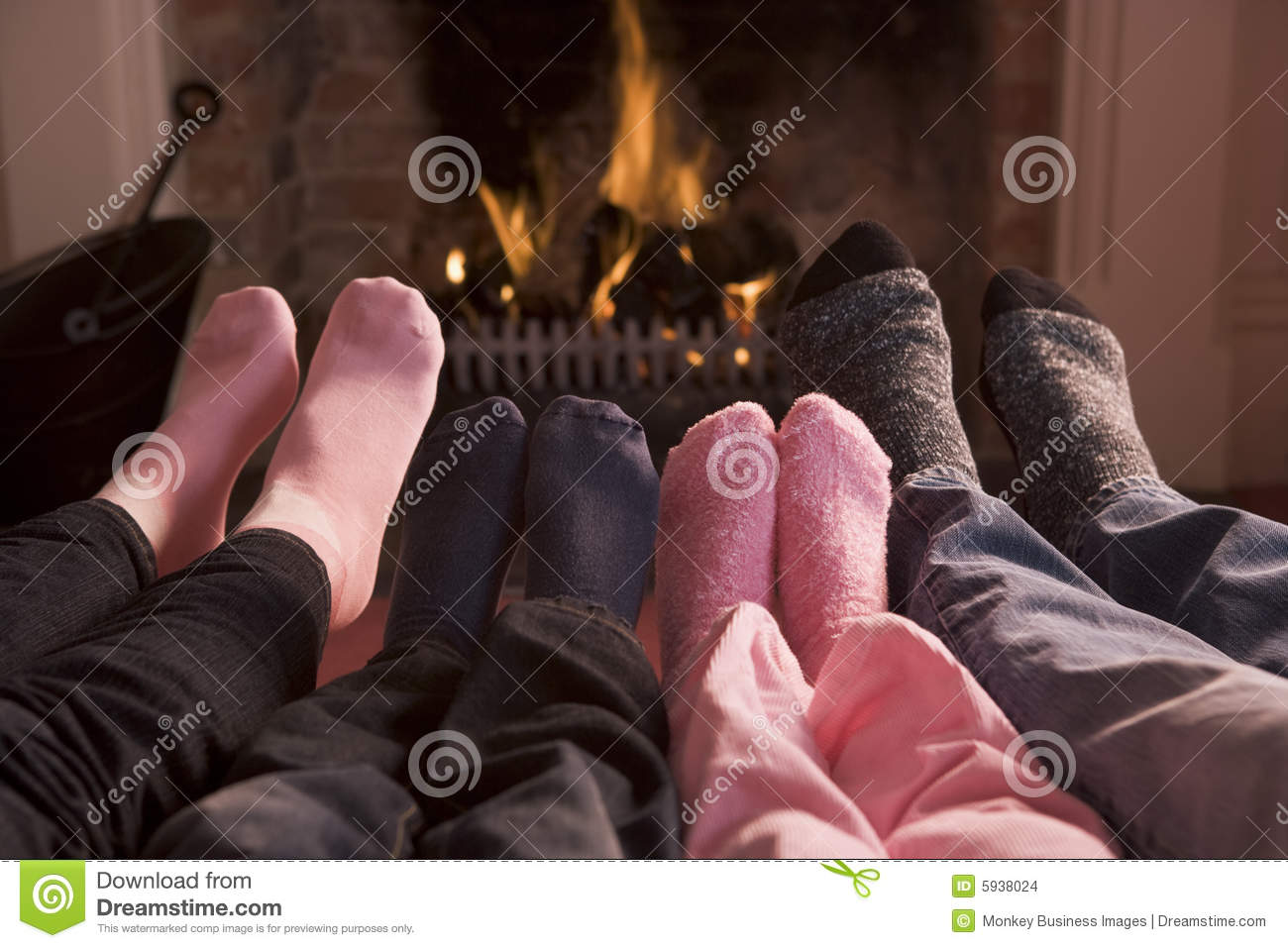 Feet Warming By Fireplace Stock Photo - Image: 31495870