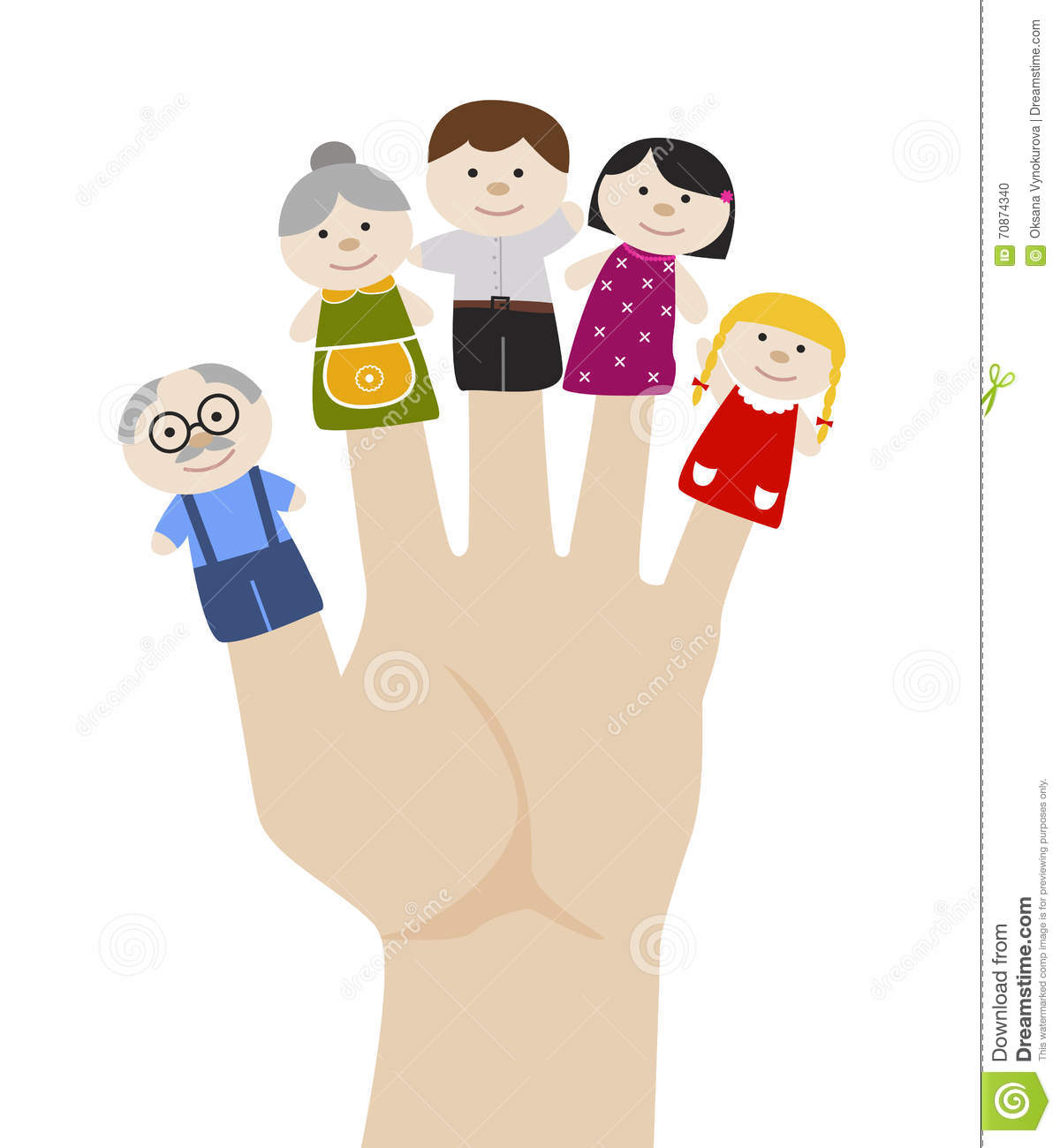 Family Finger Puppets Craft