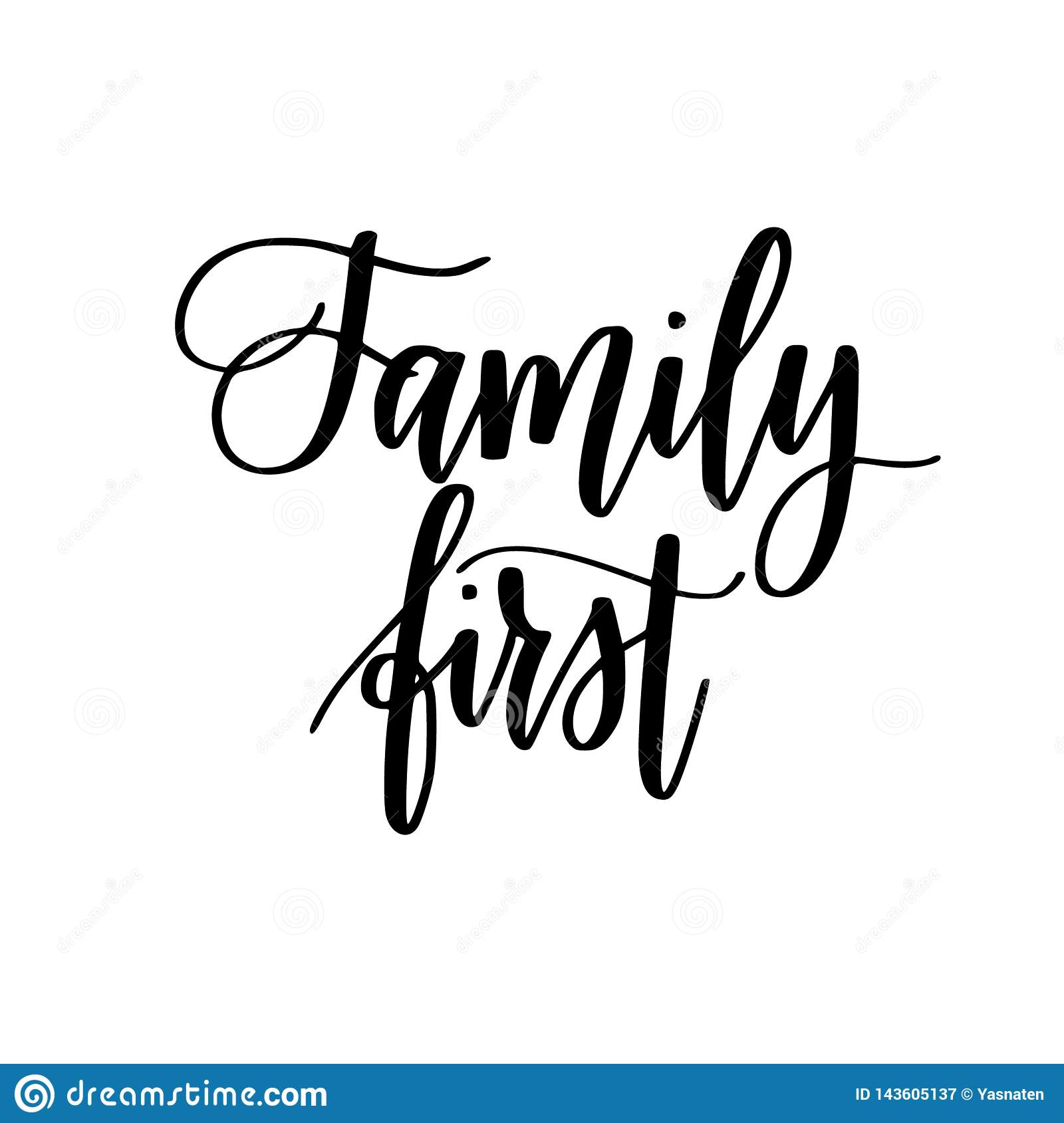 family first inspirational calligraphy quotes for home decor
