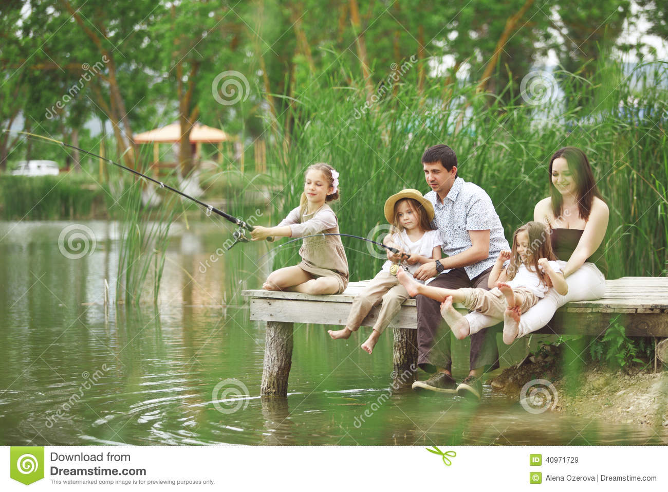 Family Fishing Stock Photography | CartoonDealer.com #55586912