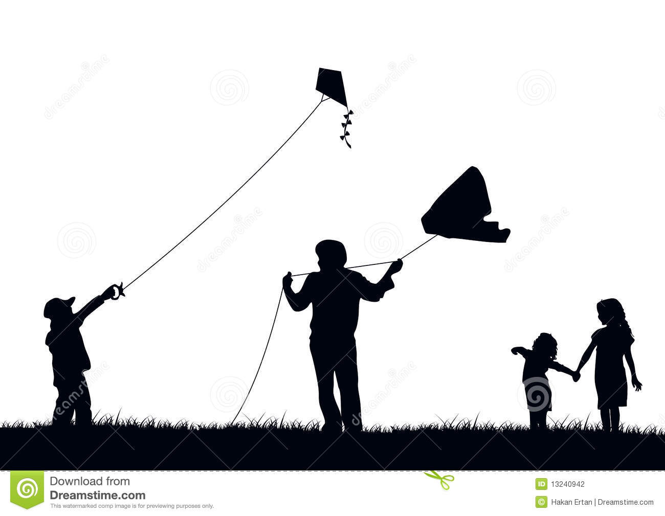 Family Flying Kite Stock Photography Image 13240942