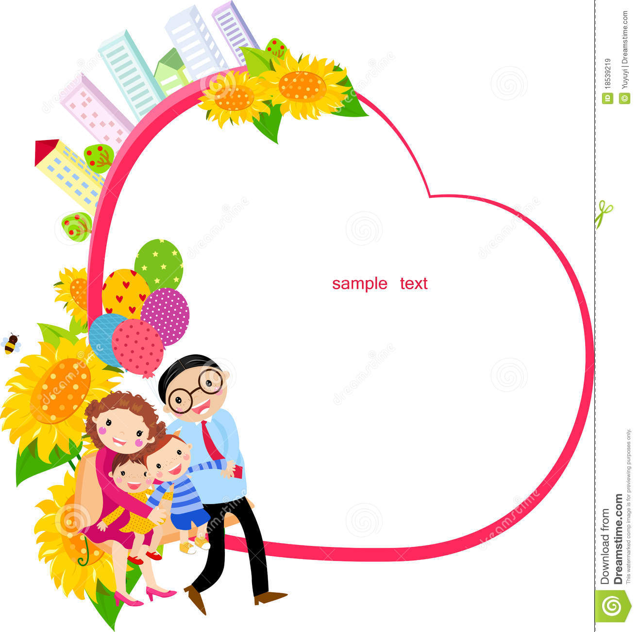 Family And Frame Royalty Free Stock Images - Image: 18539219