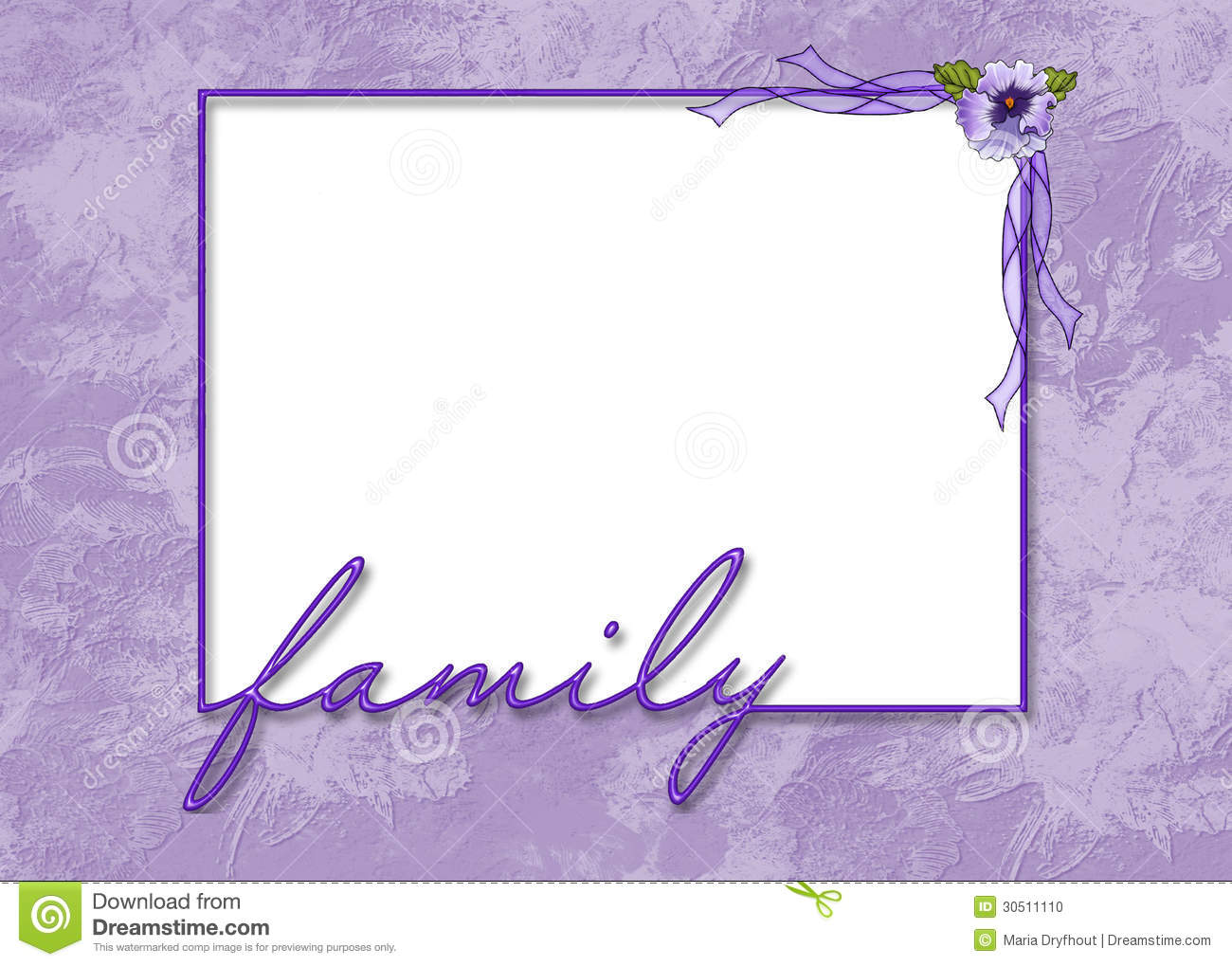family frame with flower