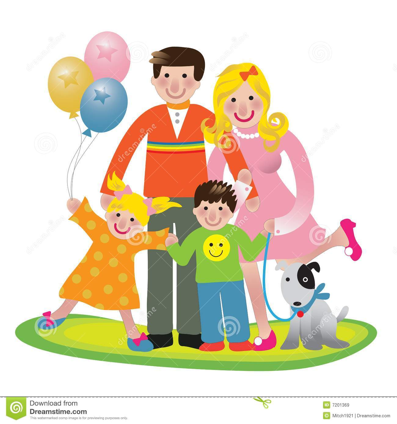 Family Fun Stock Vector Image Of Group Clipart Female