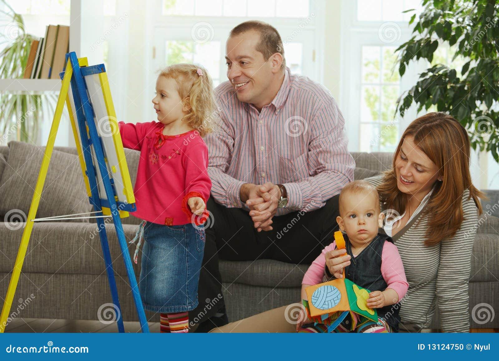 Family Fun At Home Stock Photo Image 13124750