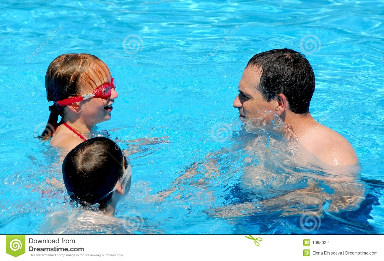 Family fun pool stock photography image 1095022 for Family swimming pool