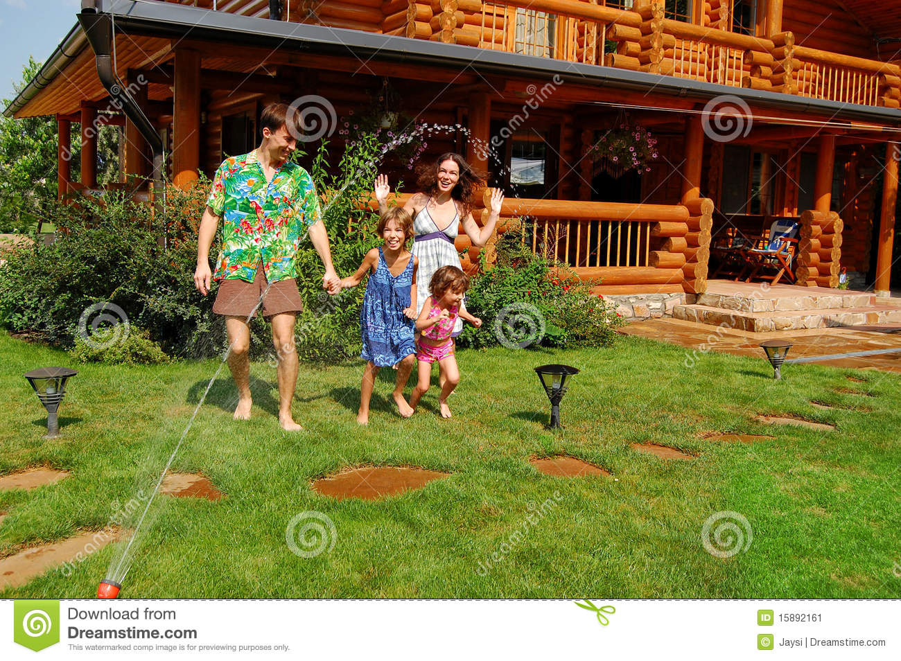 Family Garden Fun Stock Image Image 15892161