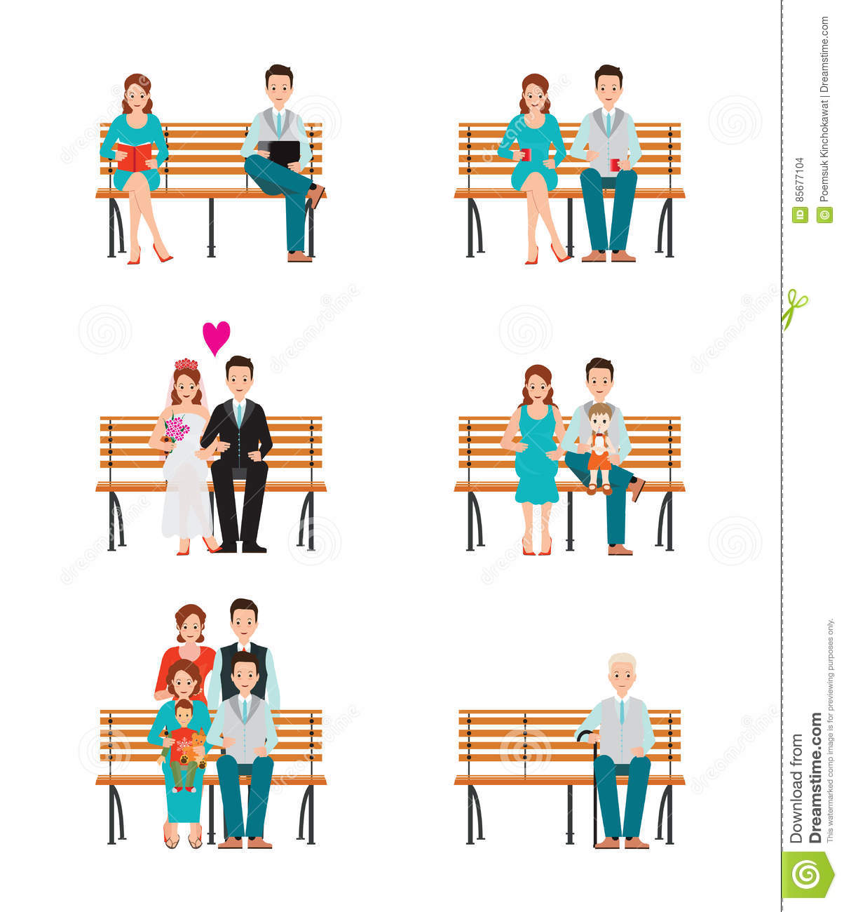 Family Generations Development Stages Process Over Time