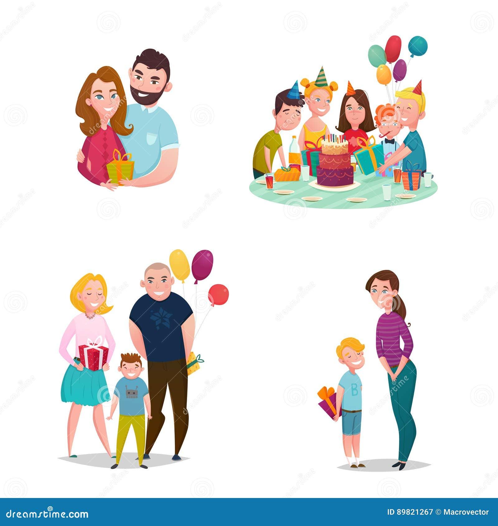Family gift giving set stock vector illustration of decorative family gift giving set royalty free vector negle Choice Image