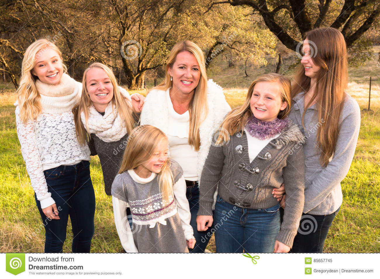 family of girls stock image. image of candid, girl, caucasian - 85657745