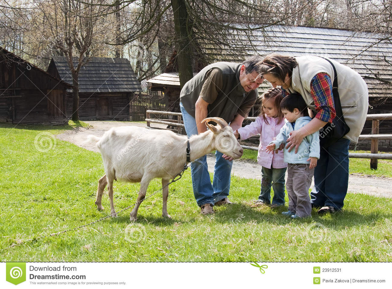 Family With Goat Stock Image - Image: 23912531 Grandparents Family Clipart