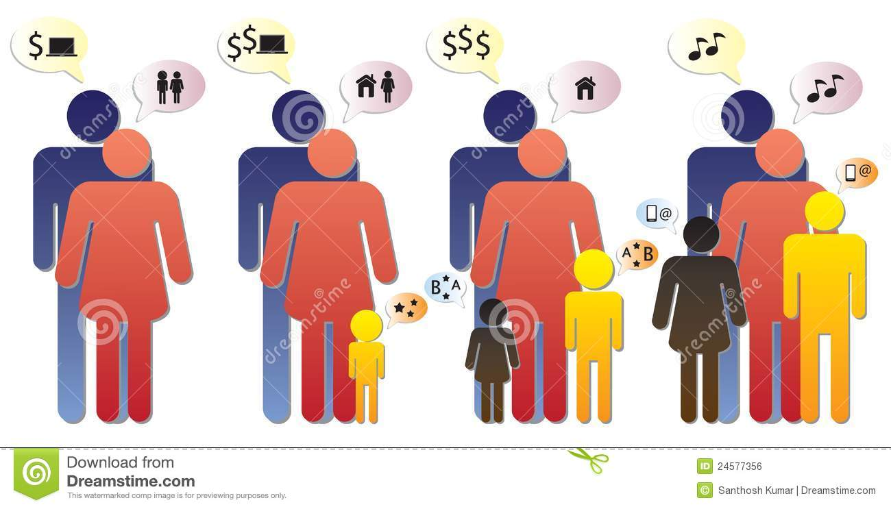 Nuclear Family Clipart Family graphic - different