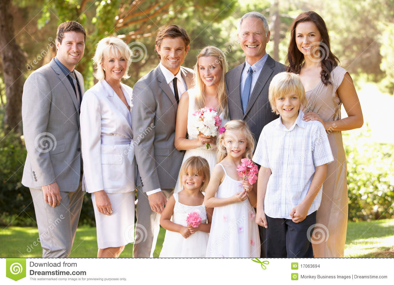 Family Group At Wedding Stock Images - Image: 17063694