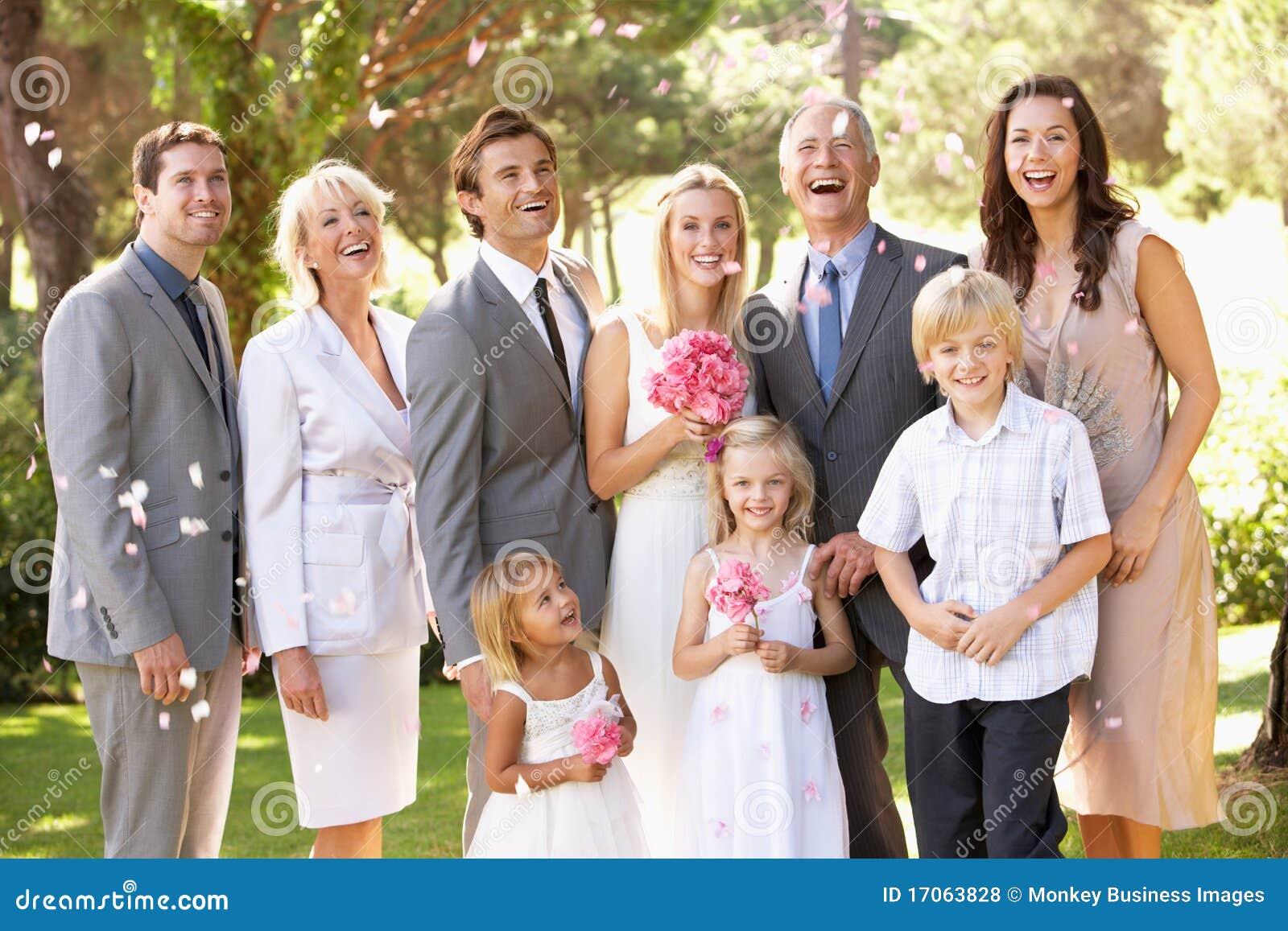 Family Group At Wedding Royalty Free Stock Photos Image