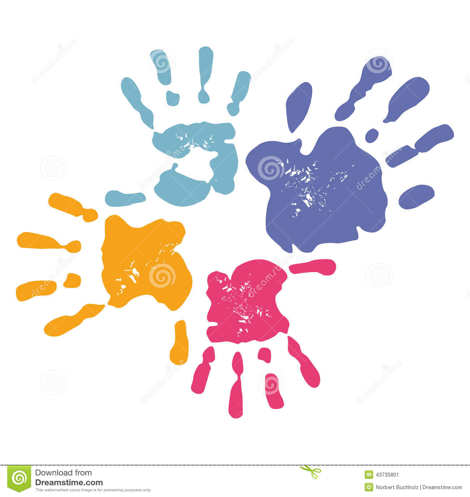 Family Handprints Stoc...