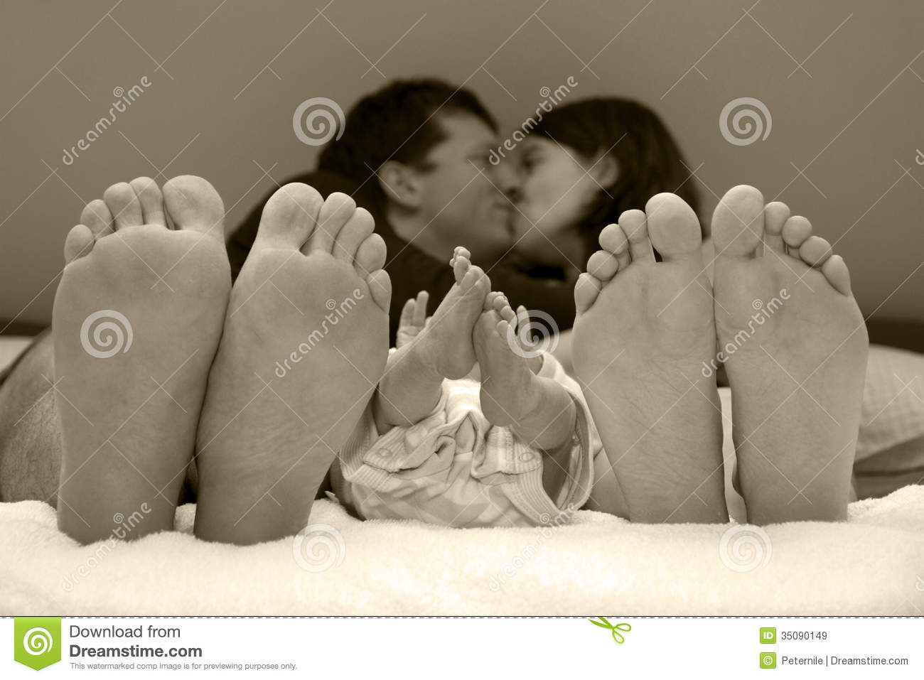Family Happiness With Newborn Baby Royalty Free Stock Images  Image