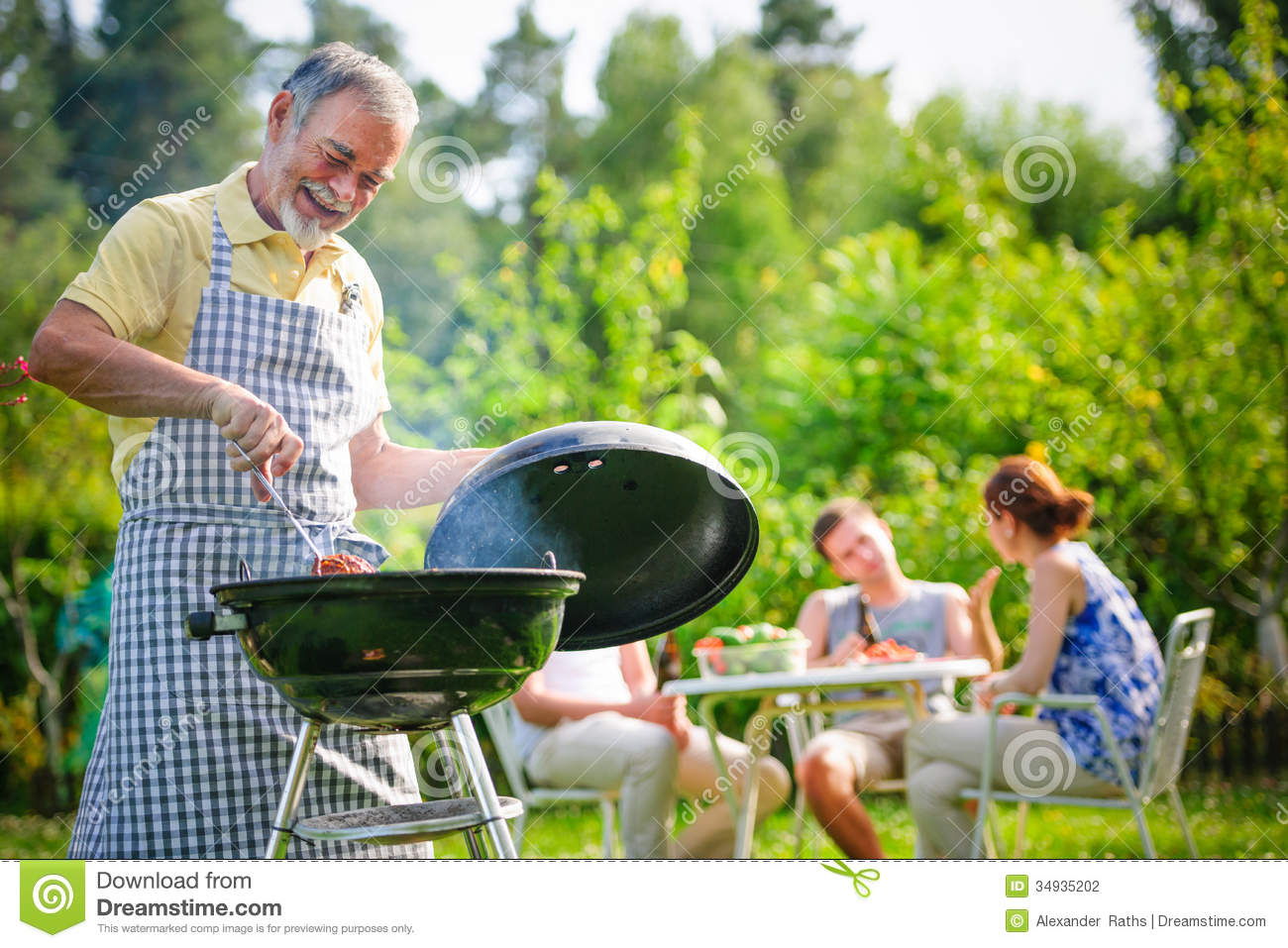 Family Having A Barbecue Party Stock Photography - Image: 34935202