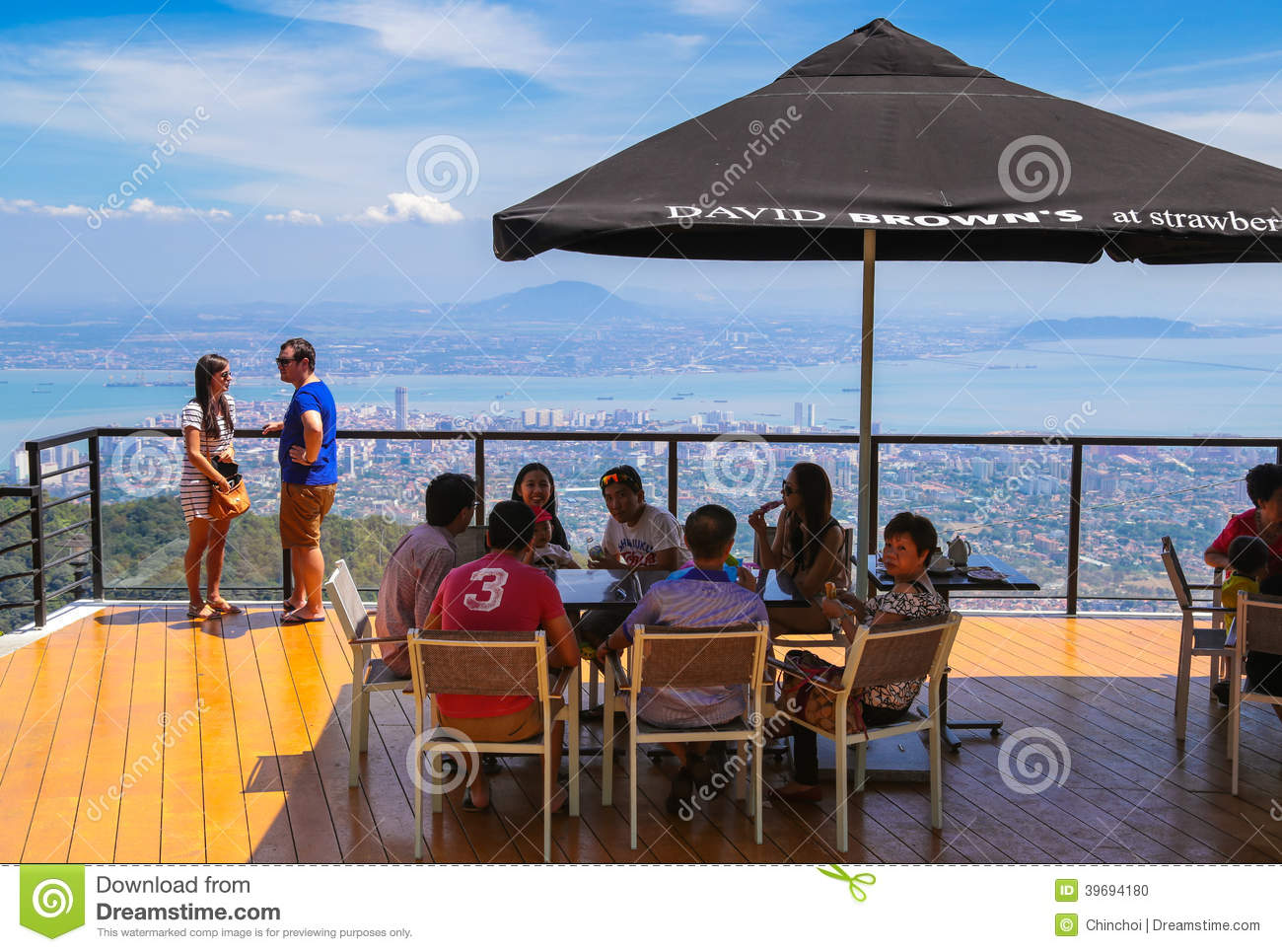 Outdoor bistro chair - A Family Having Lunch At A Luxury Restaurant At Penang