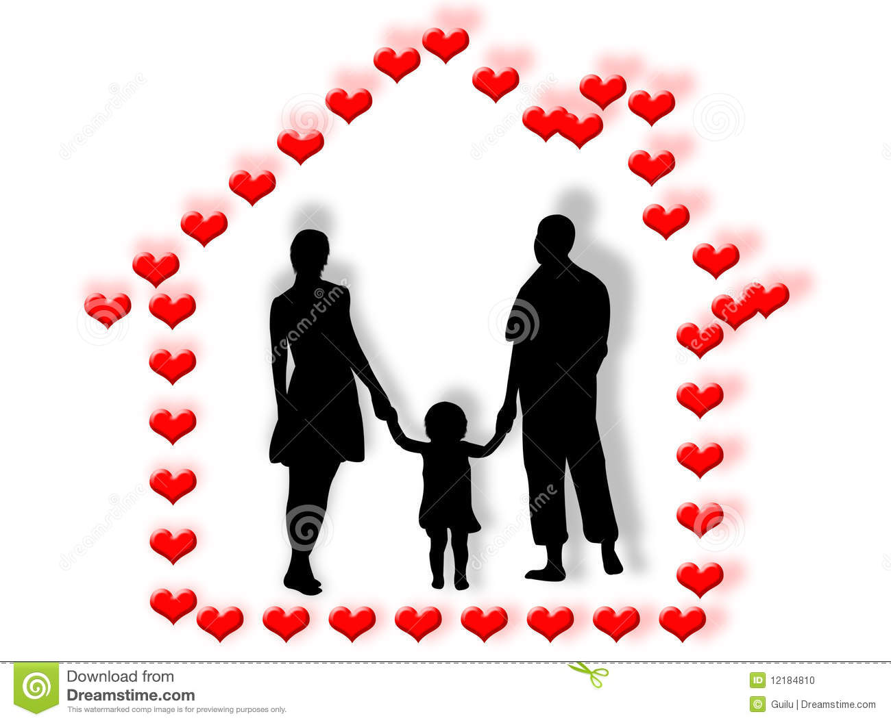 family and heart home stock photo image 12184810 3d pyramid shapes clipart 3d shape clipart black and white