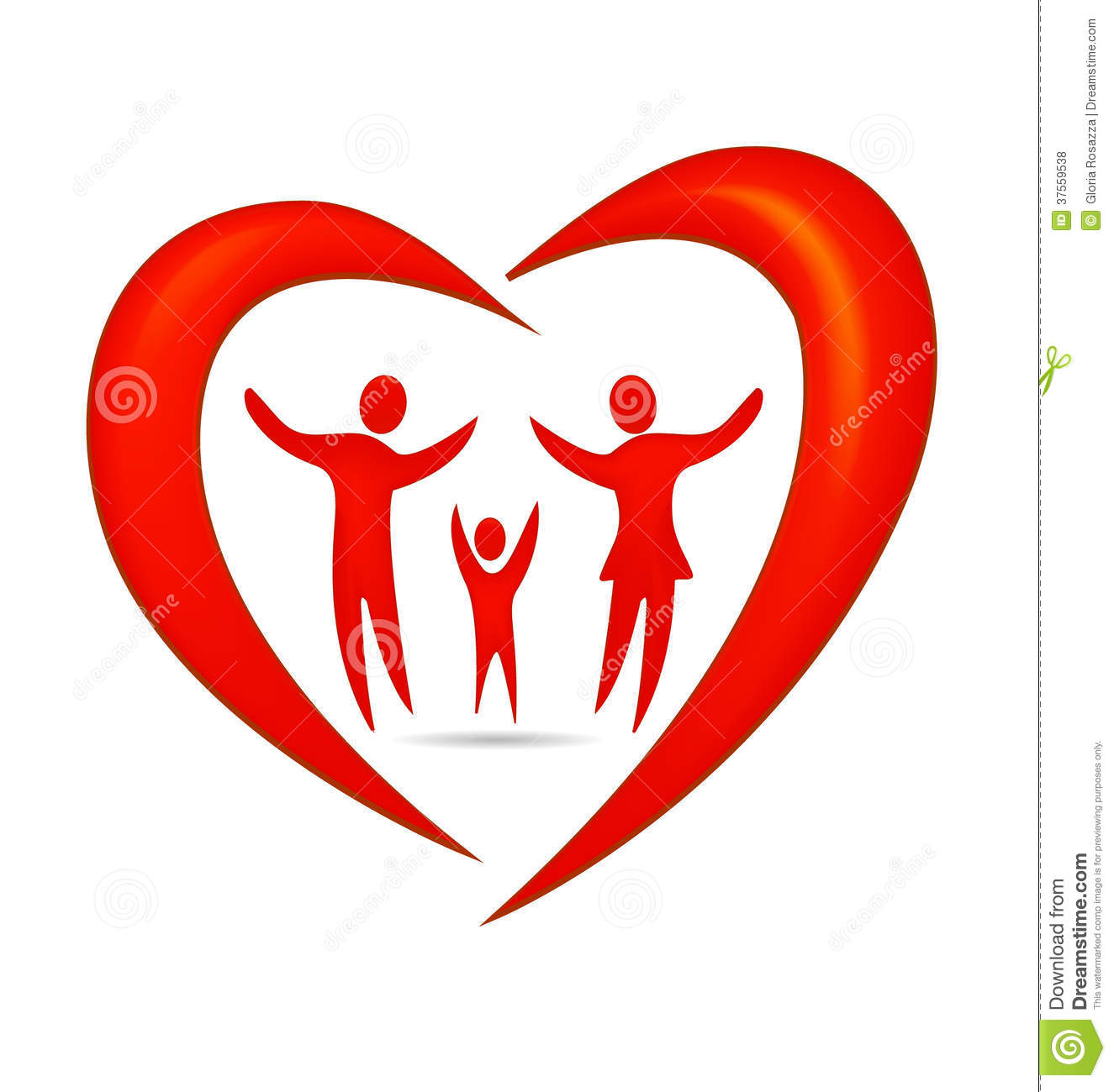 House Blogs Family Heart Logo Royalty Free Stock Photos Image 37559538