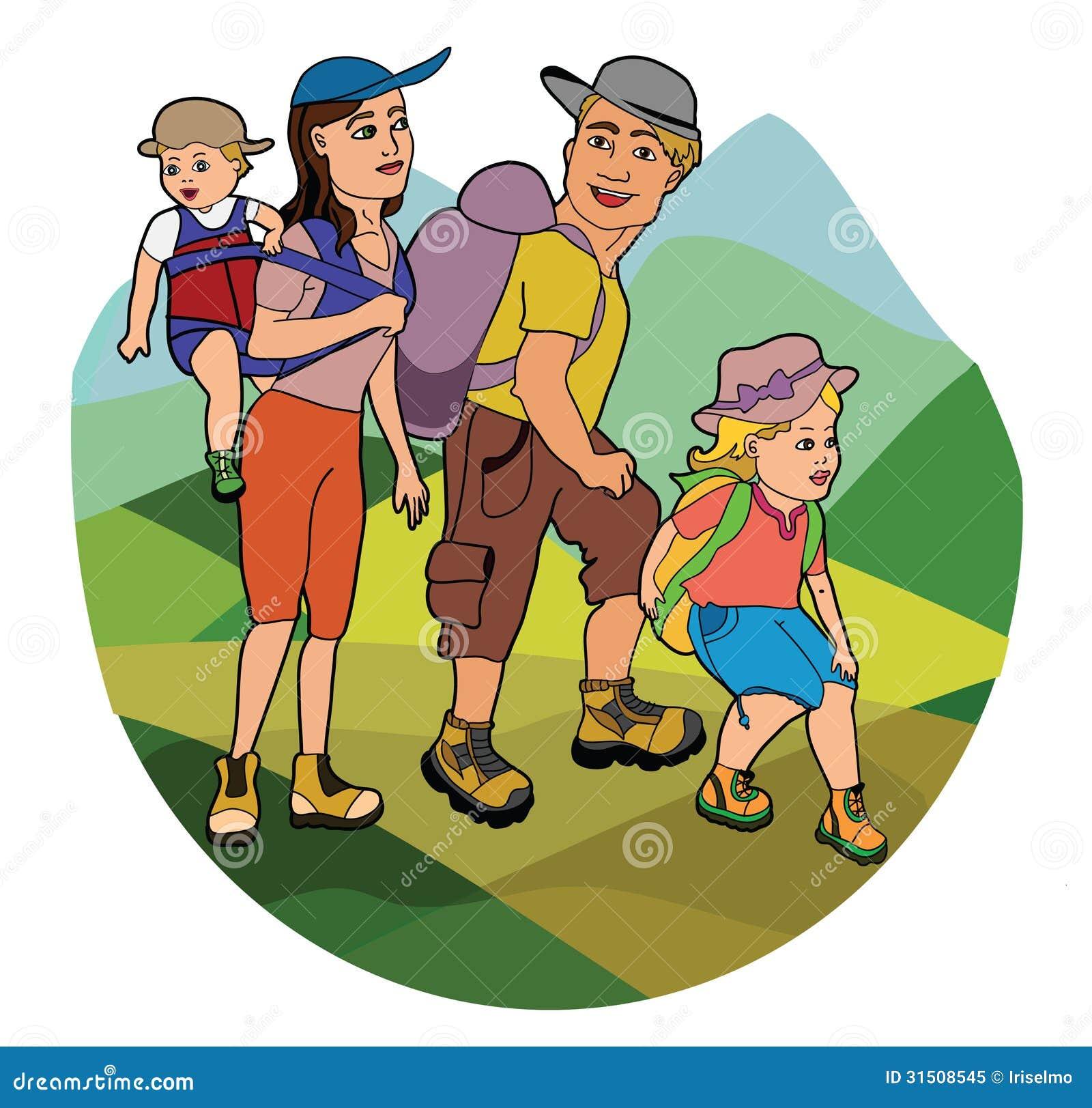 family hiking clipart - photo #26