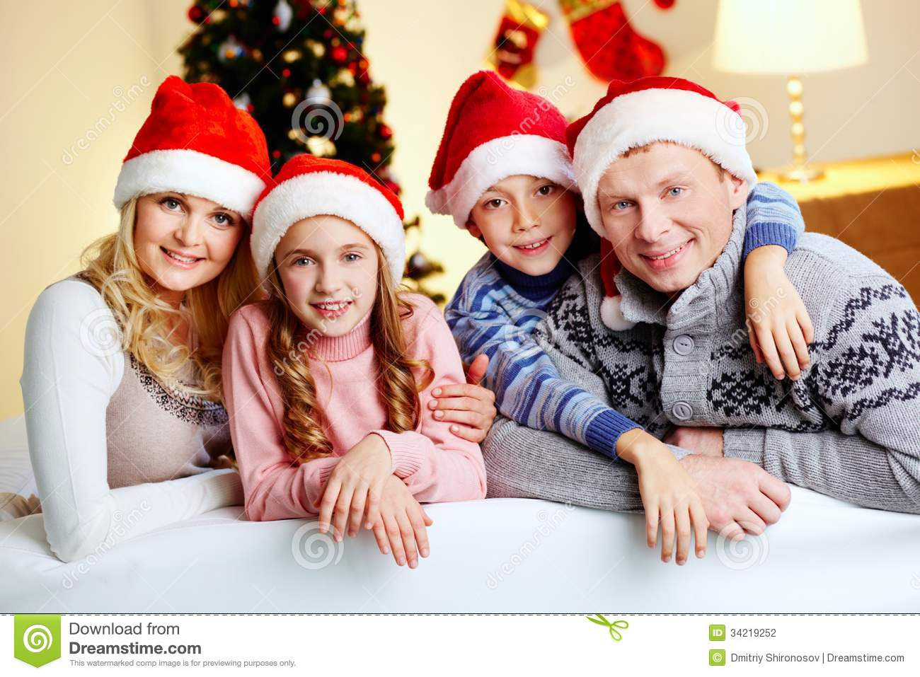 Family Holiday Stock Photo Image Of Girl Christmastime
