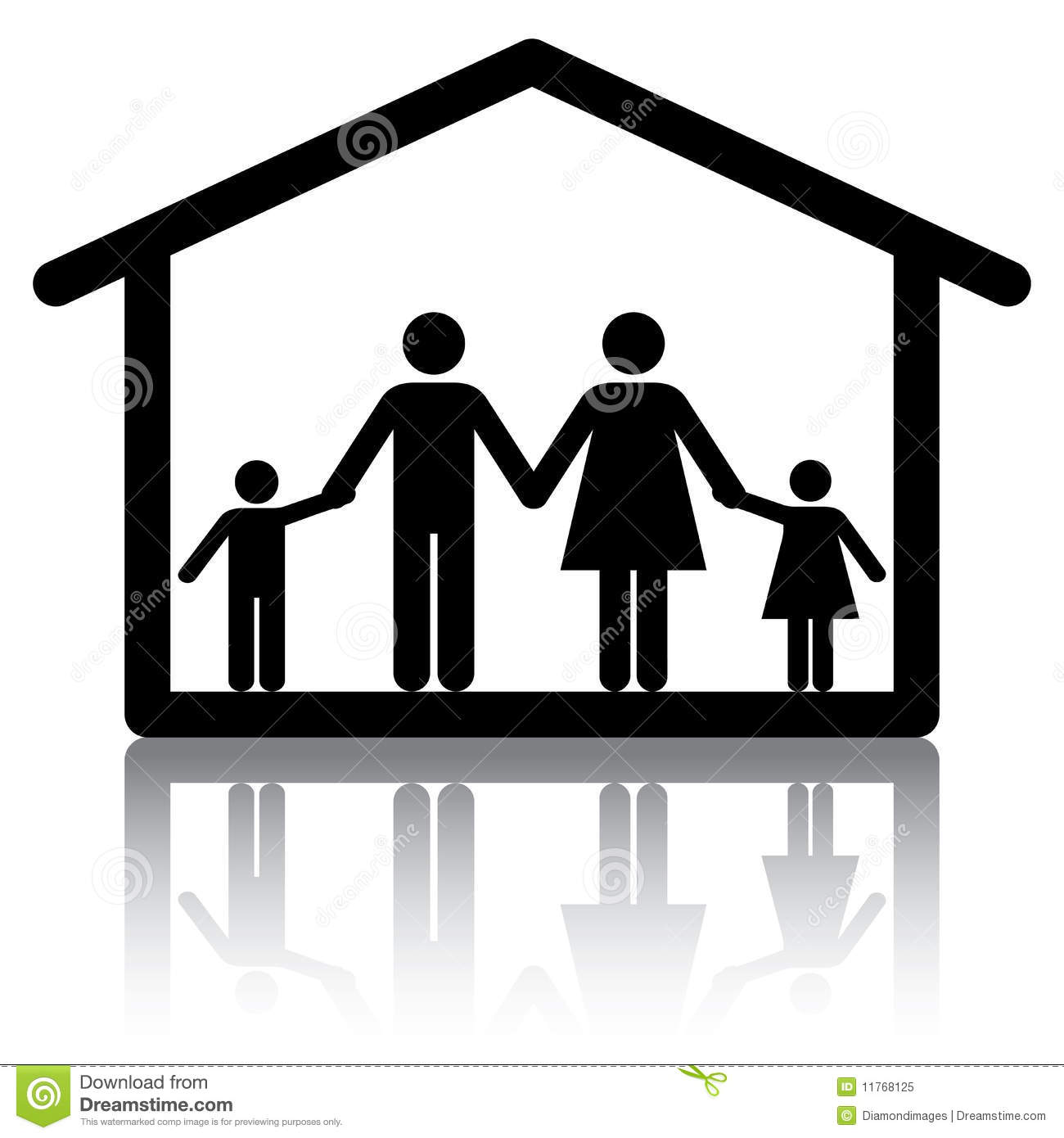 Family Home Stock Vector. Illustration Of First, Buyer
