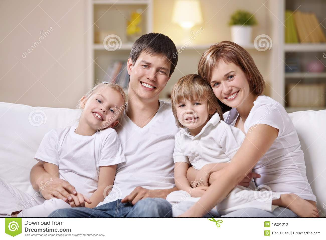 Family at home stock image image of male night boys for Family in house