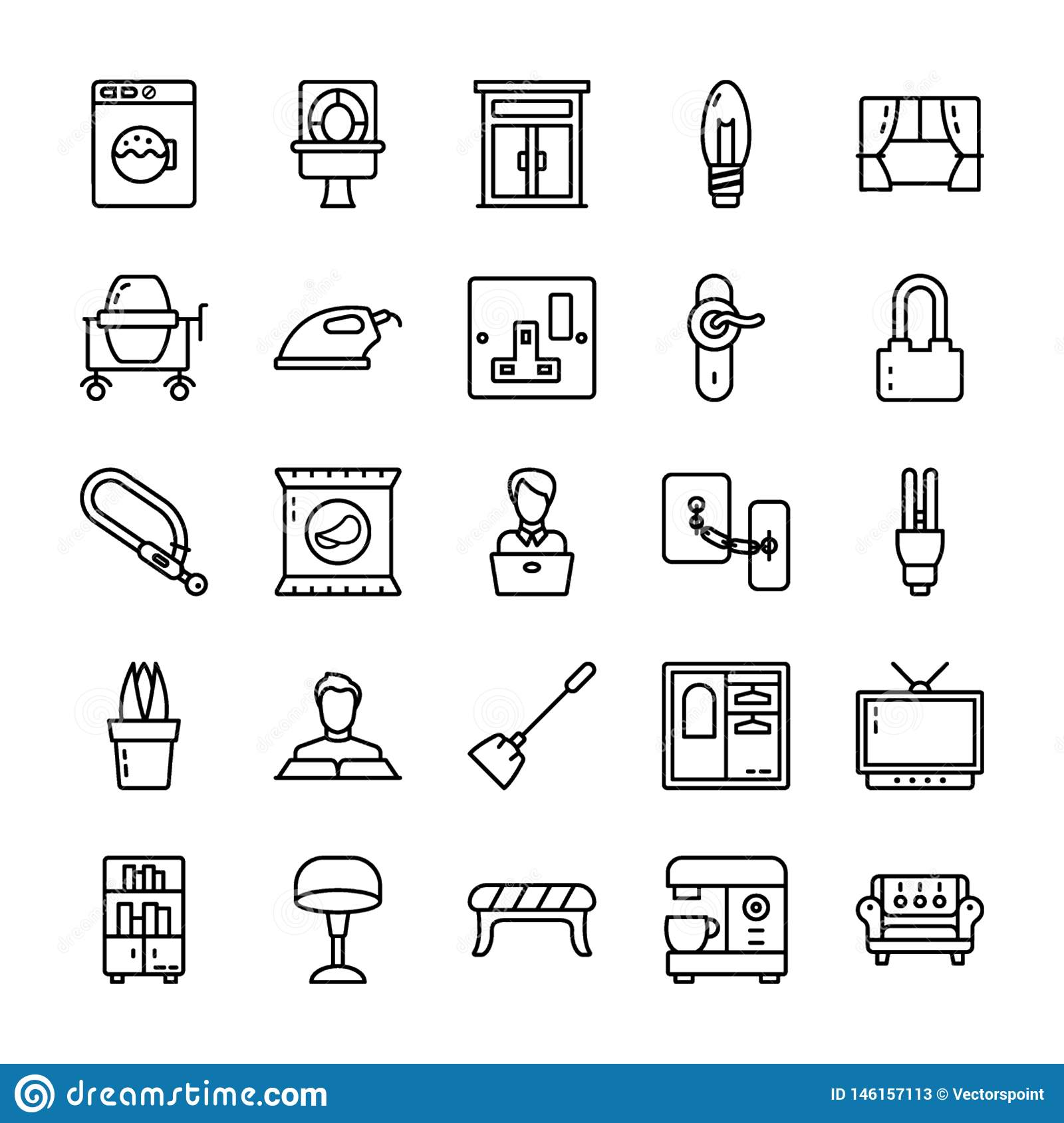 Family and home Line Icons pack