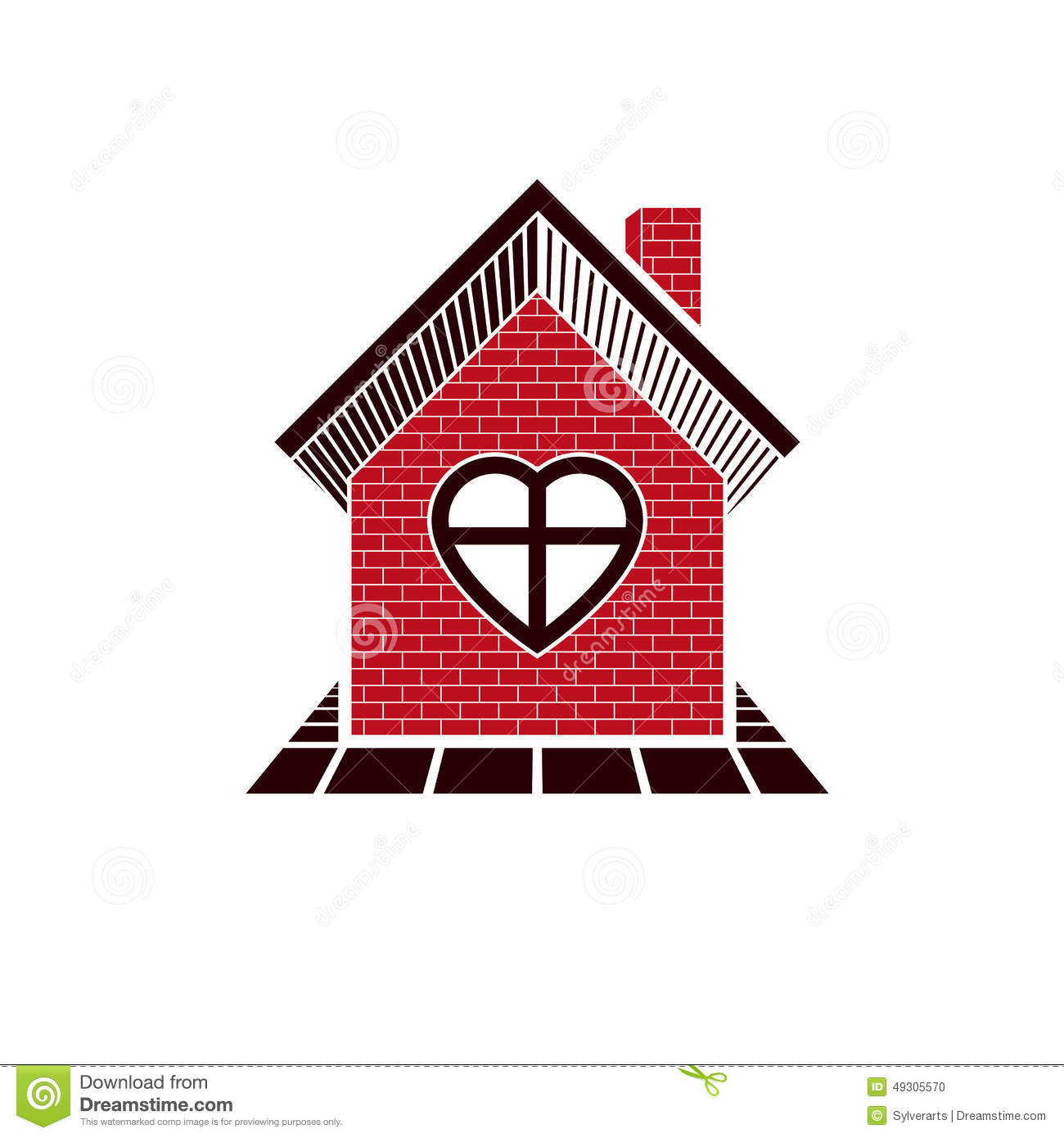 Family house abstract icon harmony at home concept for House music symbol