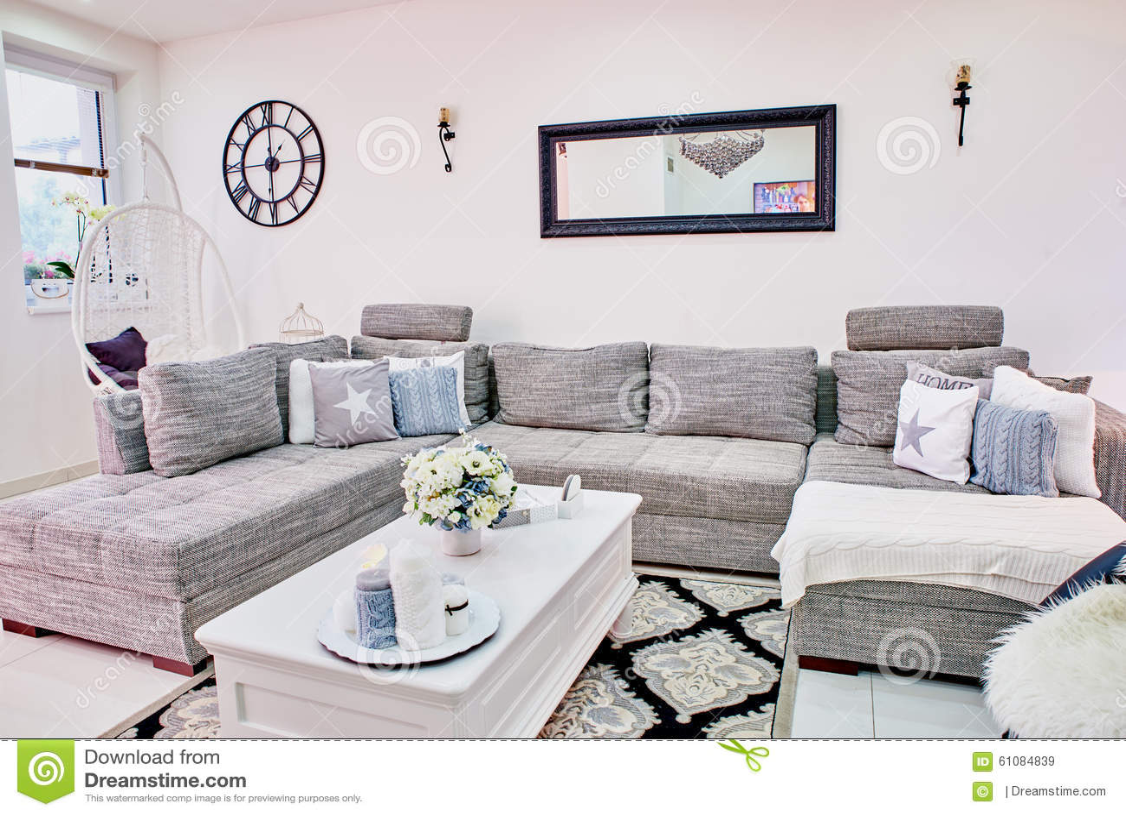 Interior Design Series Classic Living Room Stock Photo