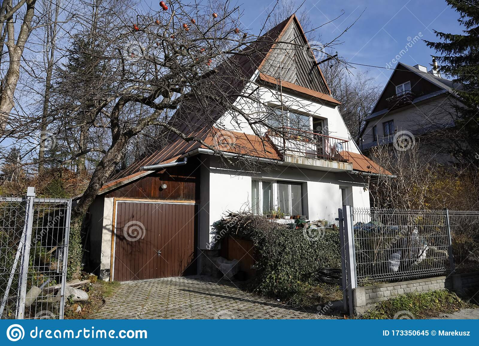 Family House With Sheet Metal Roof Editorial Image Image Of Design Famous 173350645
