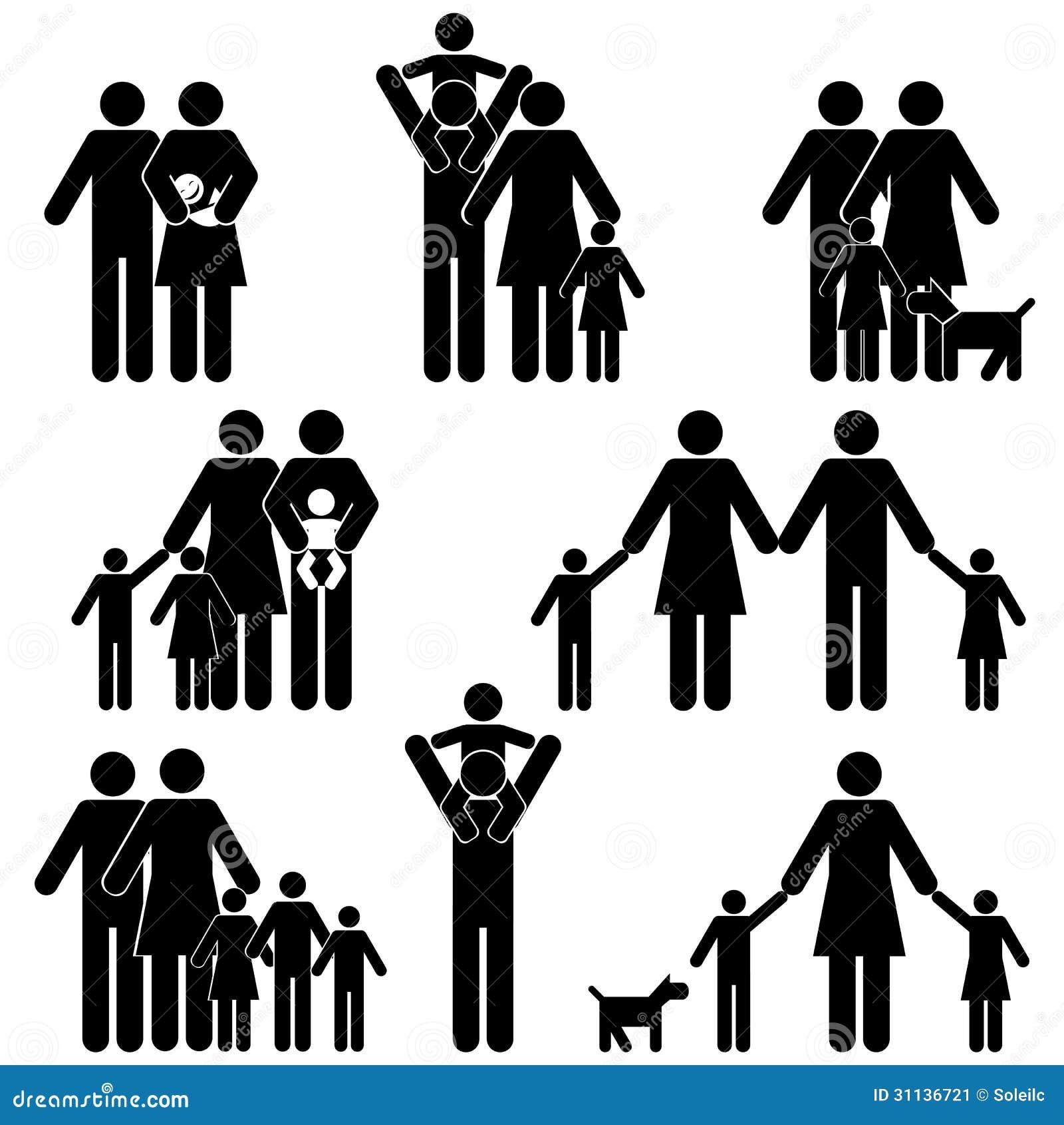 Family Icon Set Stock Image - Image: 31136721