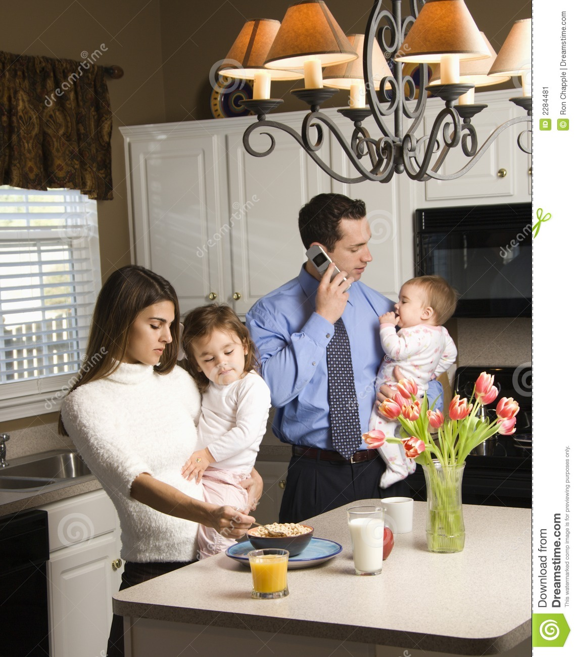 Family Kitchen Family In Kitchen Stock Image Image 2284481